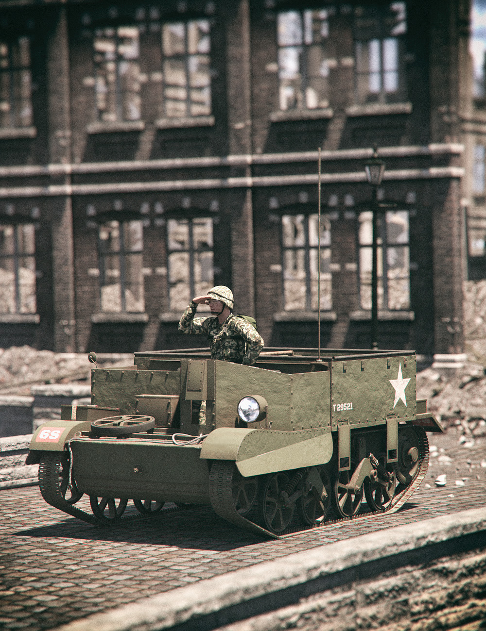 UNV Carrier Tank by: Mely3D, 3D Models by Daz 3D