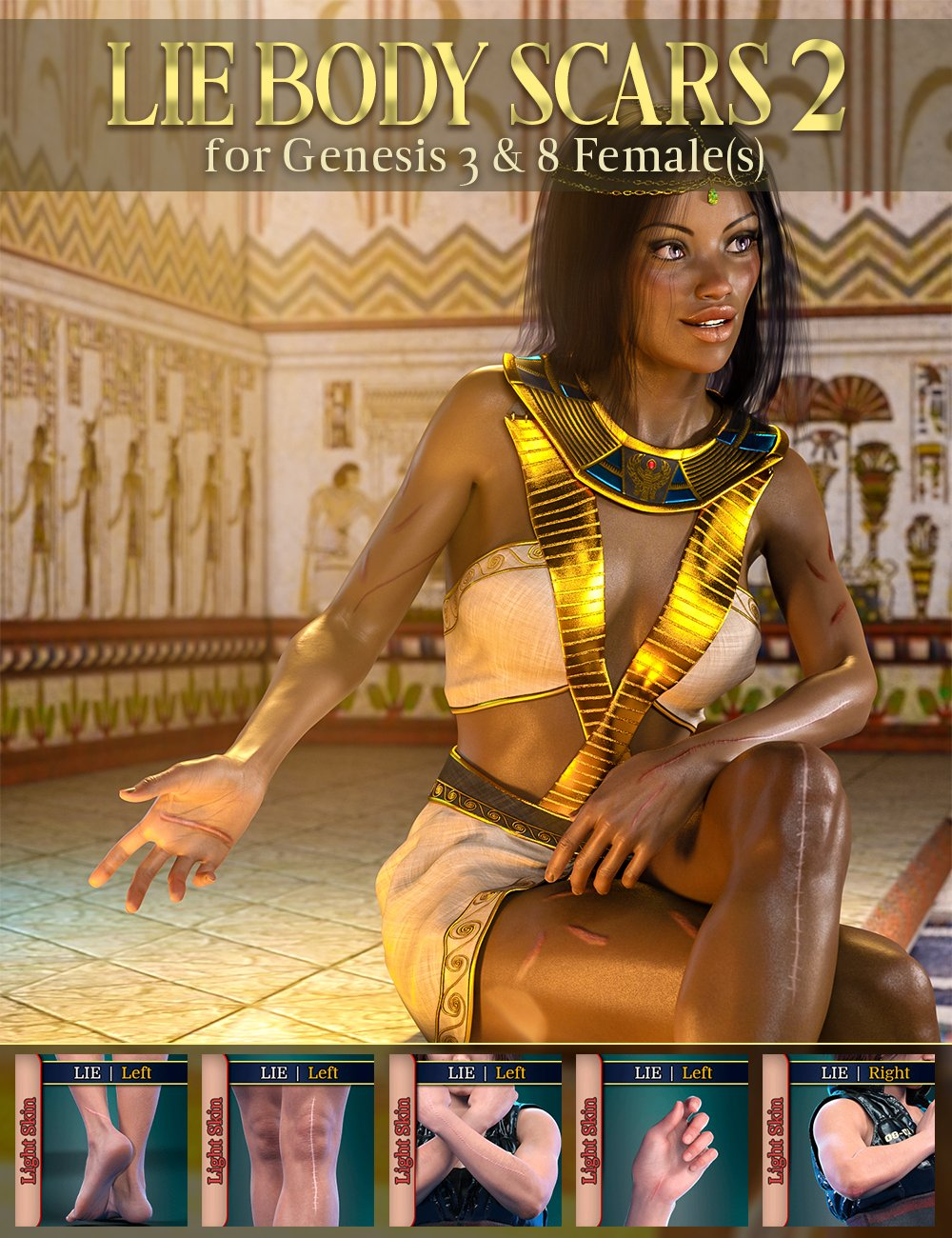 LIE Body Scars 2 for Genesis 3 and 8 Females by: FenixPhoenixEsid, 3D Models by Daz 3D