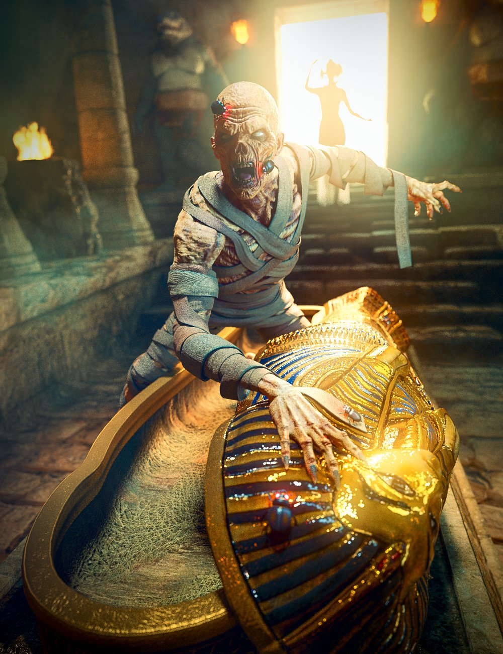 Ancient Egyptian Creature Bundle by: , 3D Models by Daz 3D