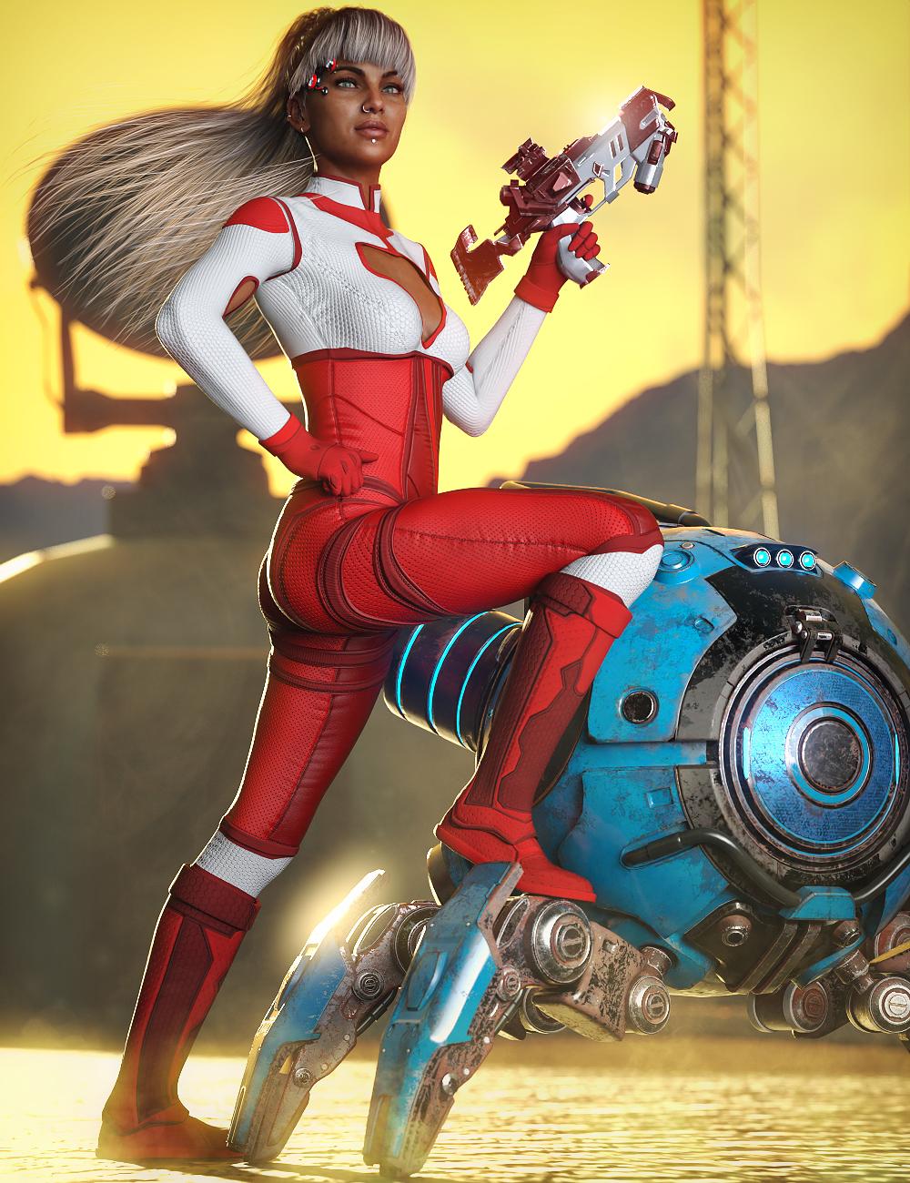 X-Fashion Sci Bodysuit 09 for Genesis 8 Females by: xtrart-3d, 3D Models by Daz 3D