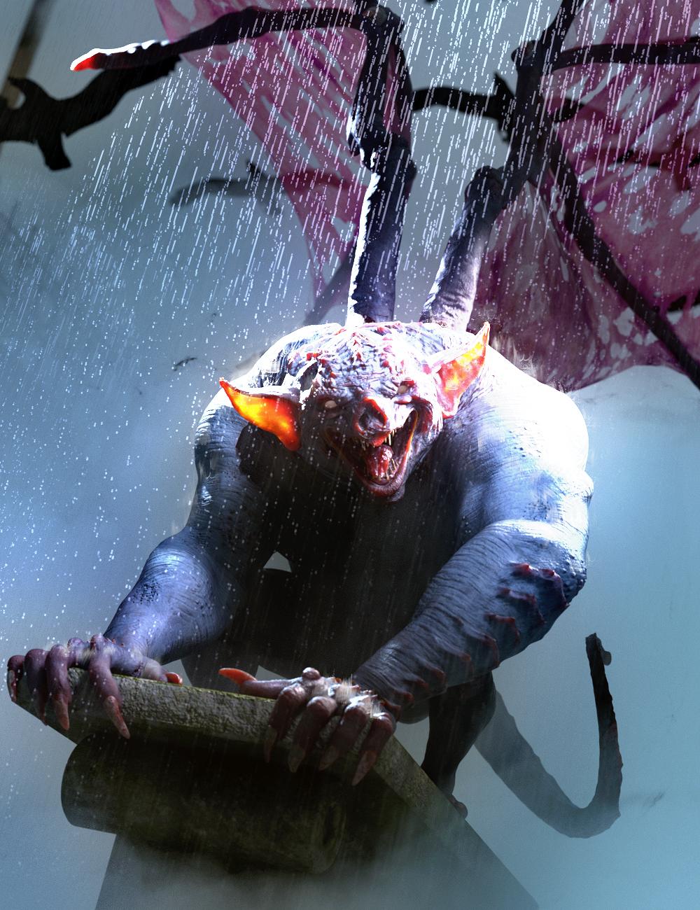 Gargoyle HD for Genesis 8 Males by: JoeQuick, 3D Models by Daz 3D