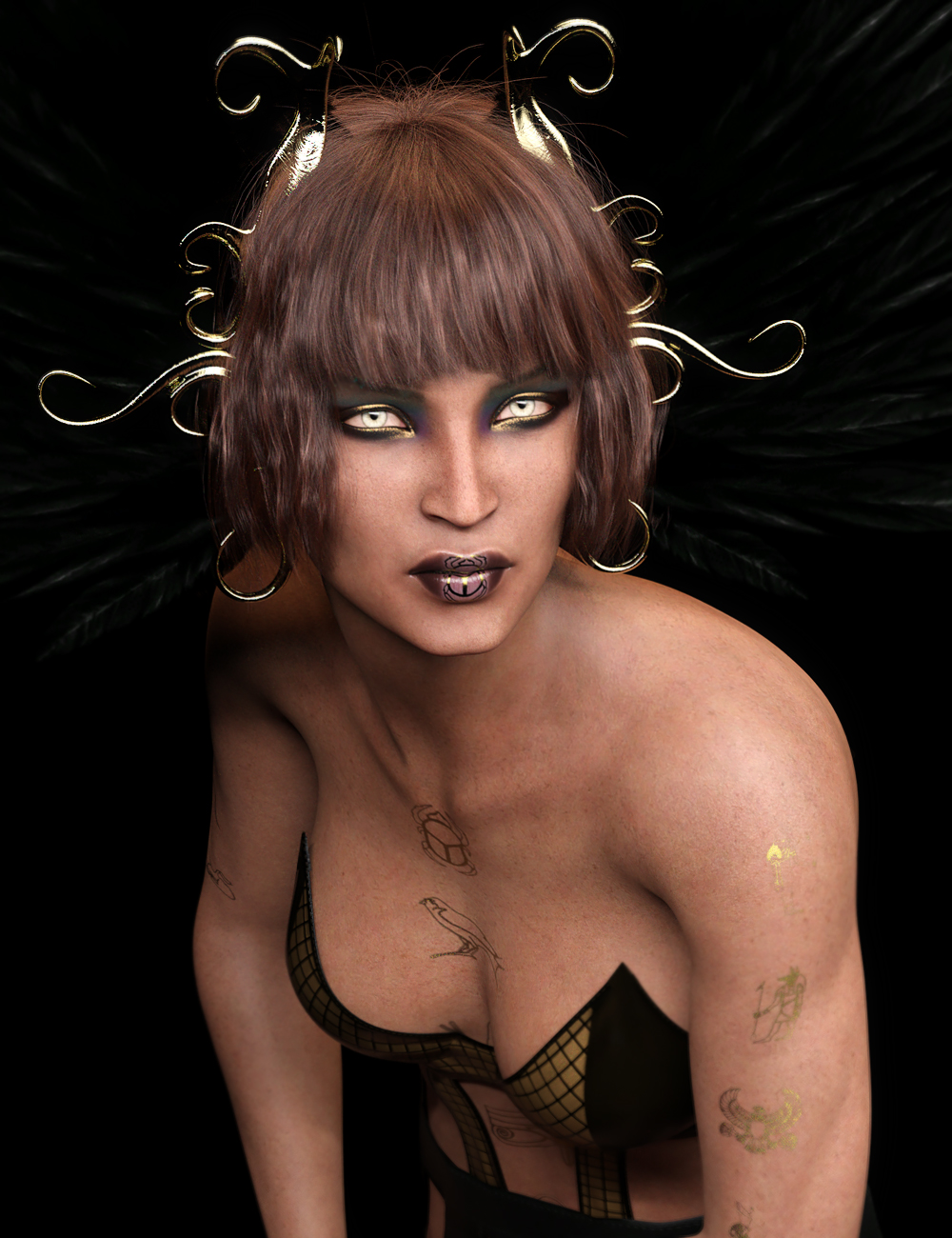 Mst Panya for Genesis 8 Female and Khemsit 8 by: Mstene, 3D Models by Daz 3D
