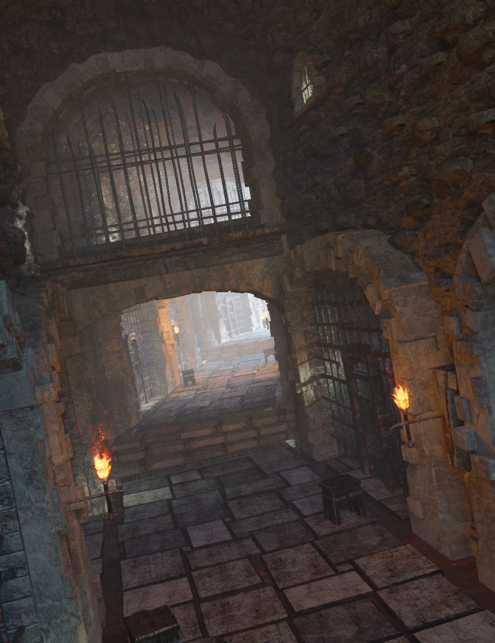 Castle Gravestone: The Dungeon Cells by: The Management, 3D Models by Daz 3D