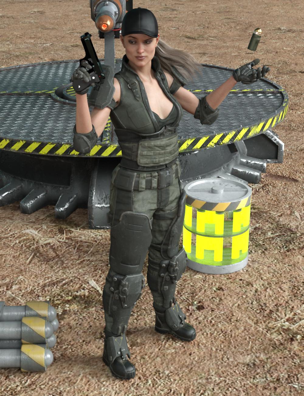 Mercenary Poses For Genesis 8 Female by: Ensary, 3D Models by Daz 3D