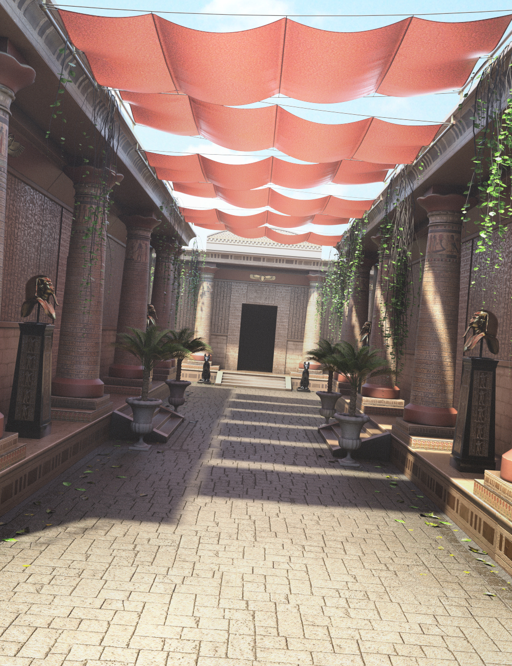 Hypostyle Hallway by: Merlin Studios, 3D Models by Daz 3D
