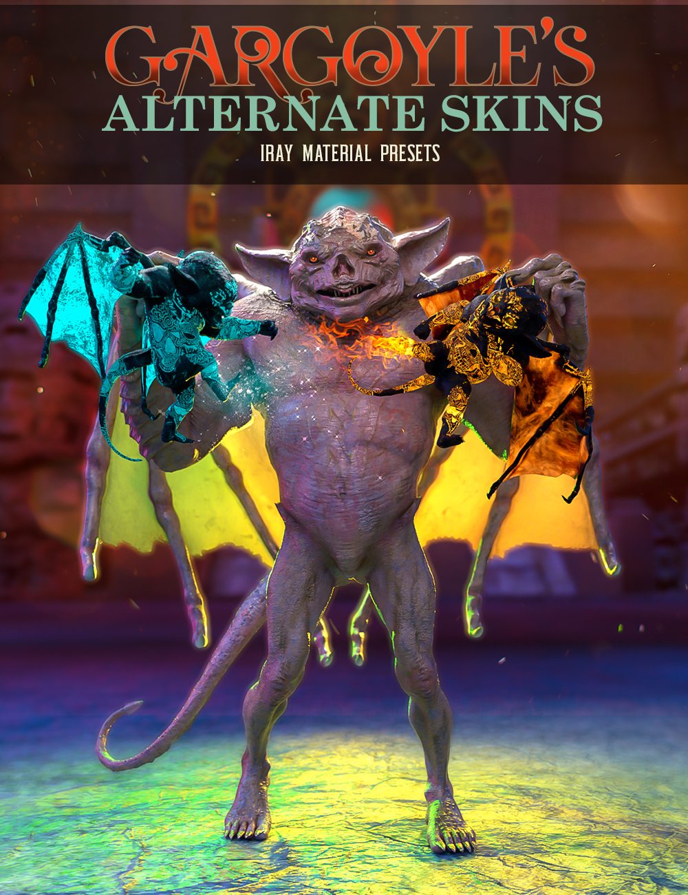 Gargoyle's Alternate Skins by: EsidFenixPhoenix, 3D Models by Daz 3D