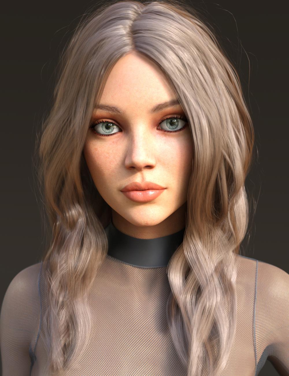 Arlene Hair for Genesis 3 and 8 Females by: Kool, 3D Models by Daz 3D