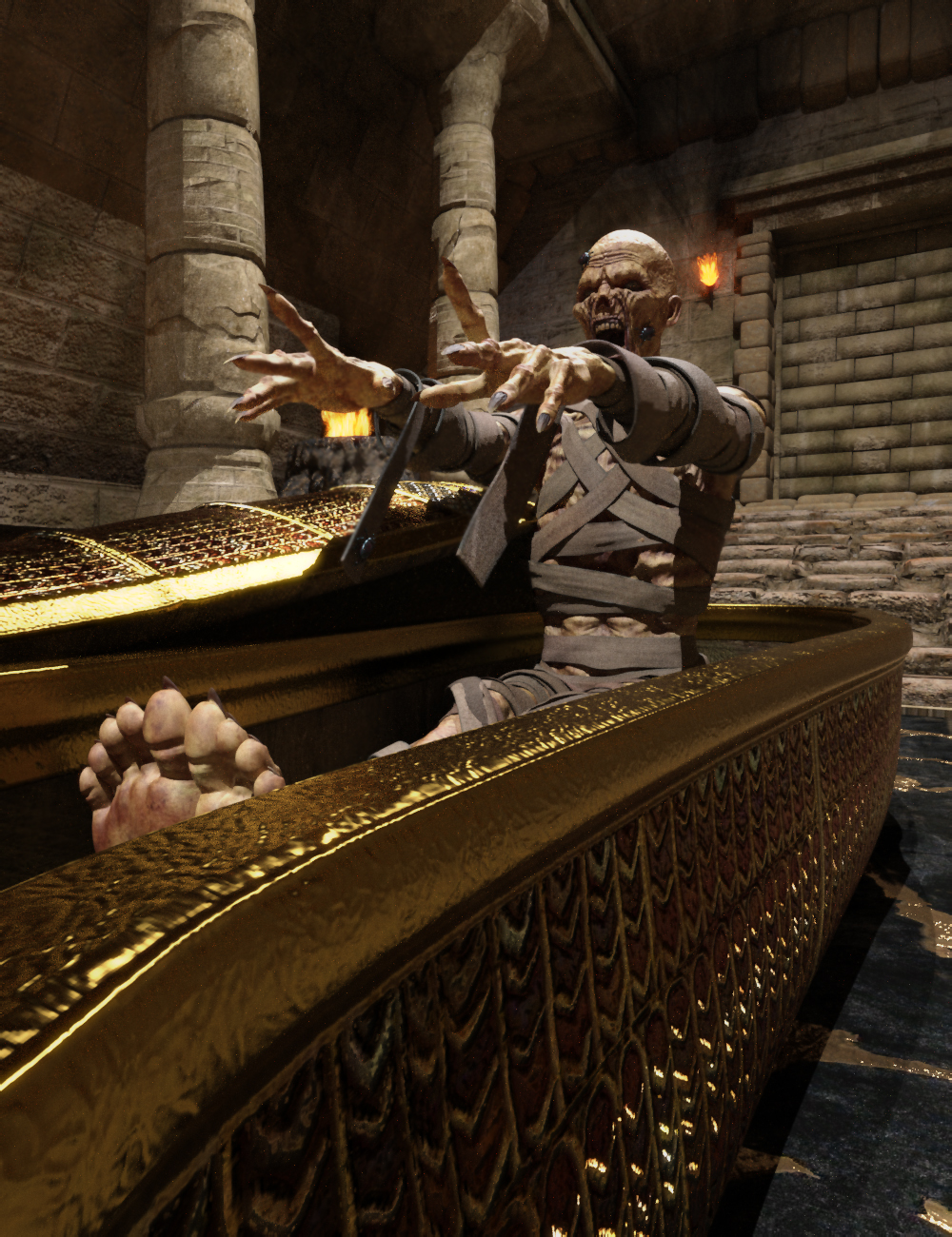 The Cursed One Poses for The Mummy HD by: Ensary, 3D Models by Daz 3D