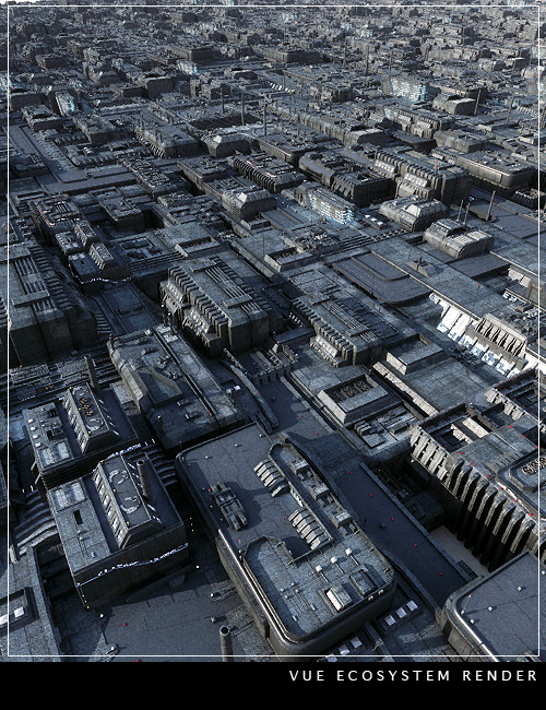 Greeble City Blocks by: Stonemason, 3D Models by Daz 3D