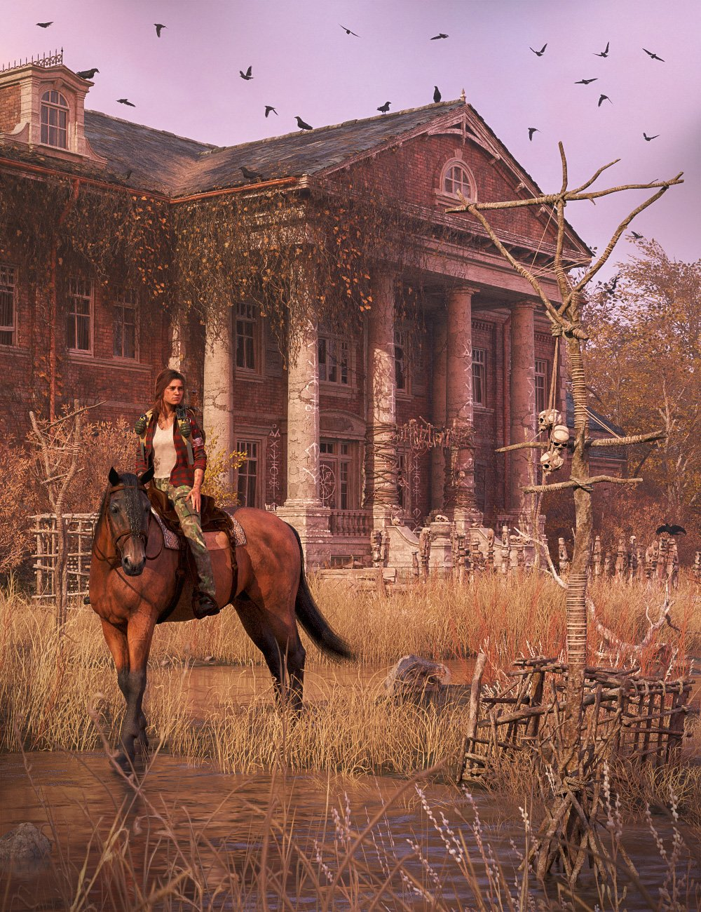 Albert Mansion by: , 3D Models by Daz 3D