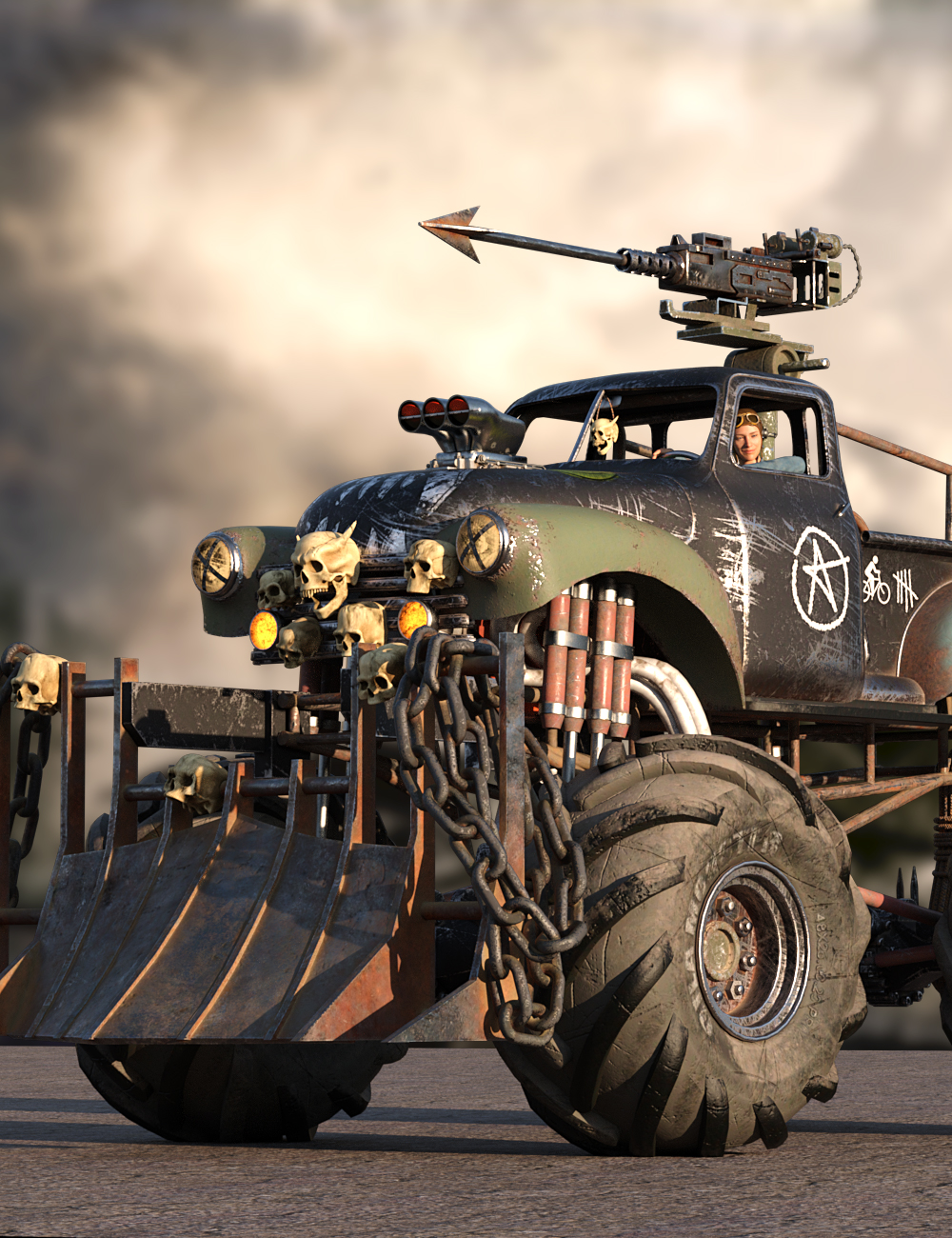 Gila Destructive Truck by: DarkEdgeDesign, 3D Models by Daz 3D