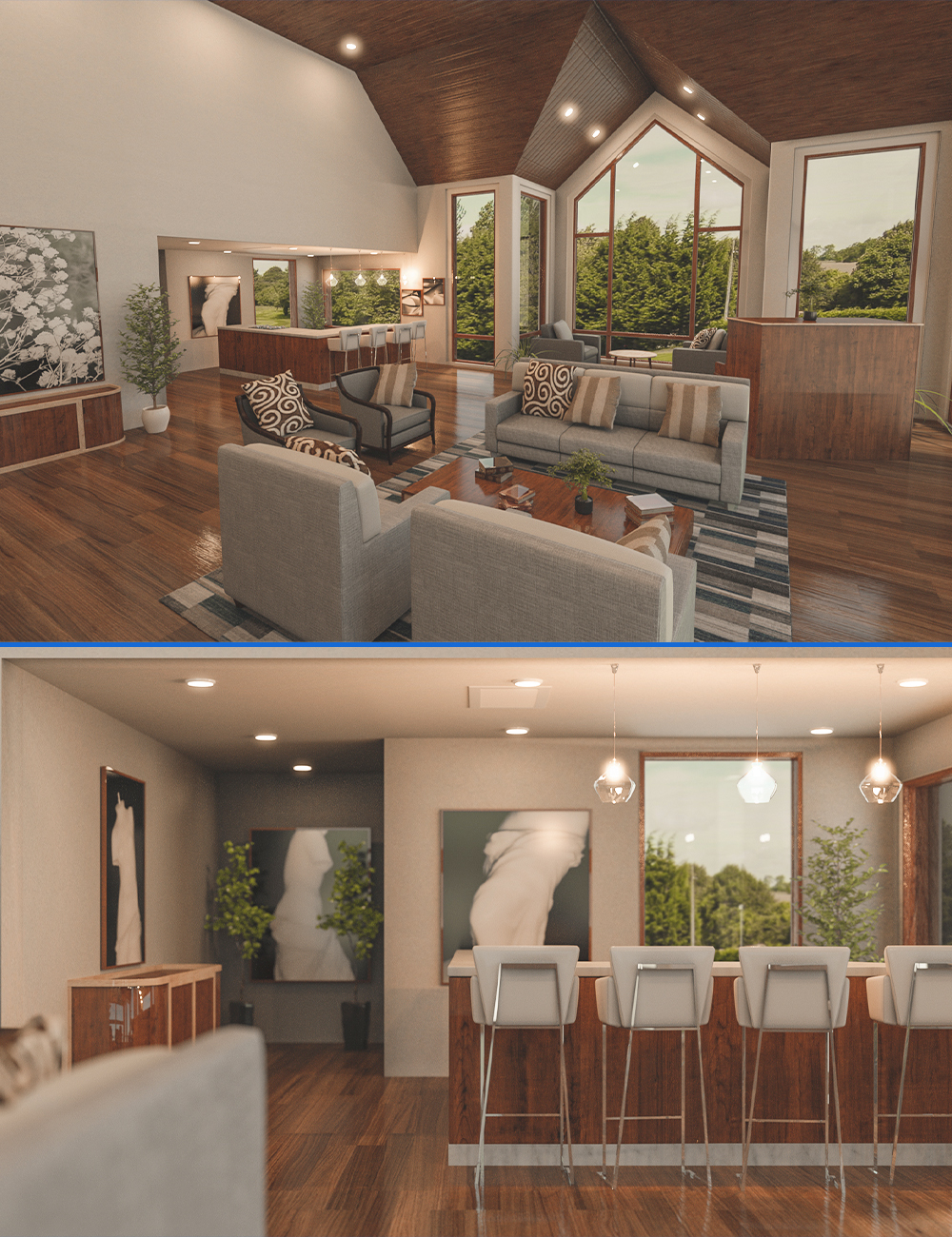 Modern Country Home by: bituka3d, 3D Models by Daz 3D
