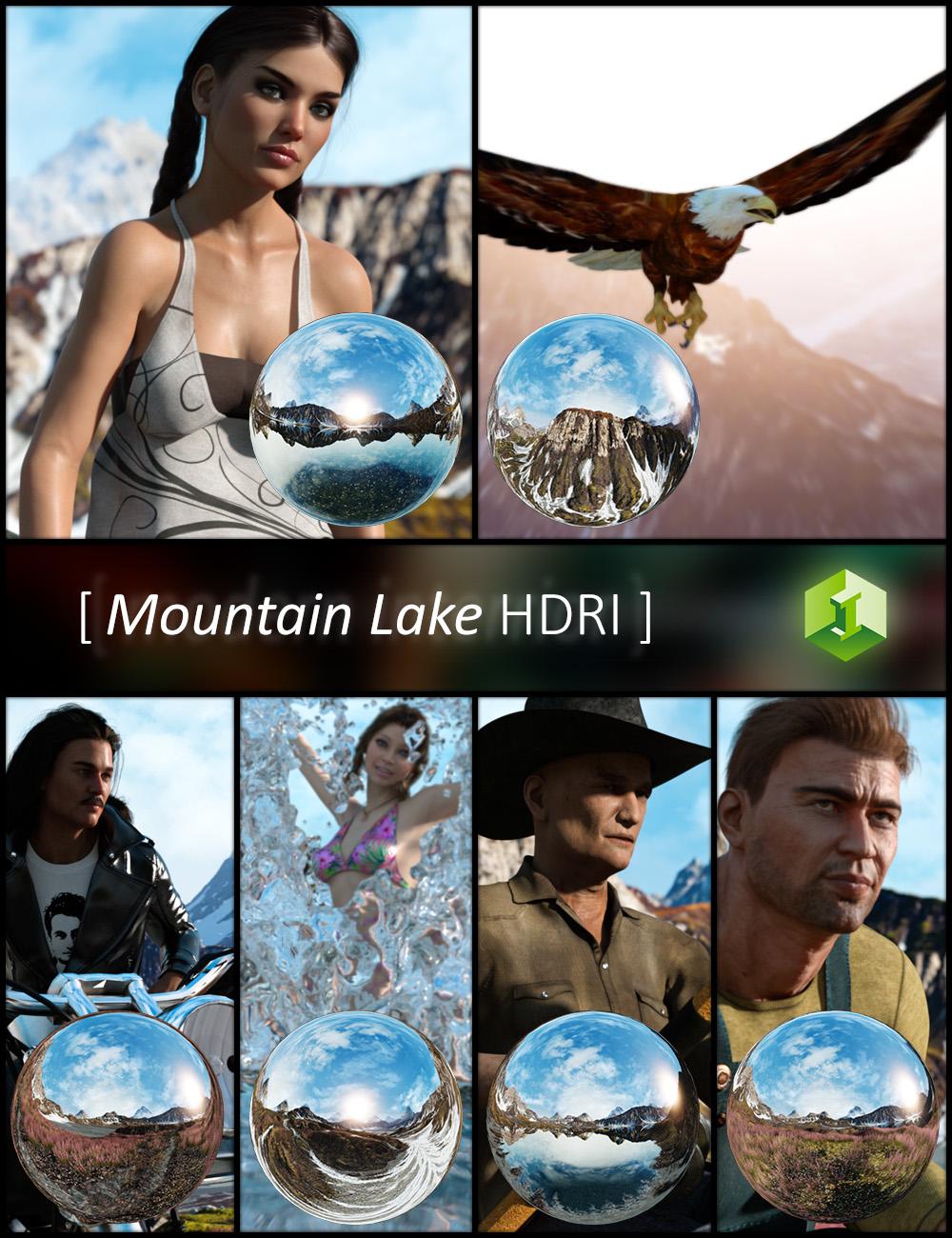 Mountain Lake HDRI by: JDA HDRI, 3D Models by Daz 3D
