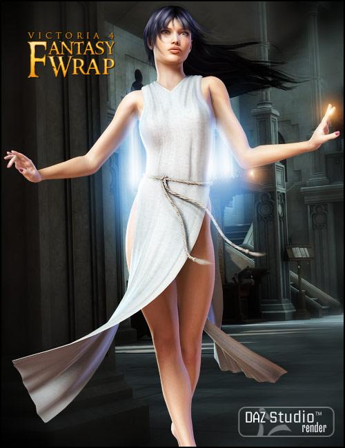Fantasy Wrap for V4 by: 3D Universe, 3D Models by Daz 3D
