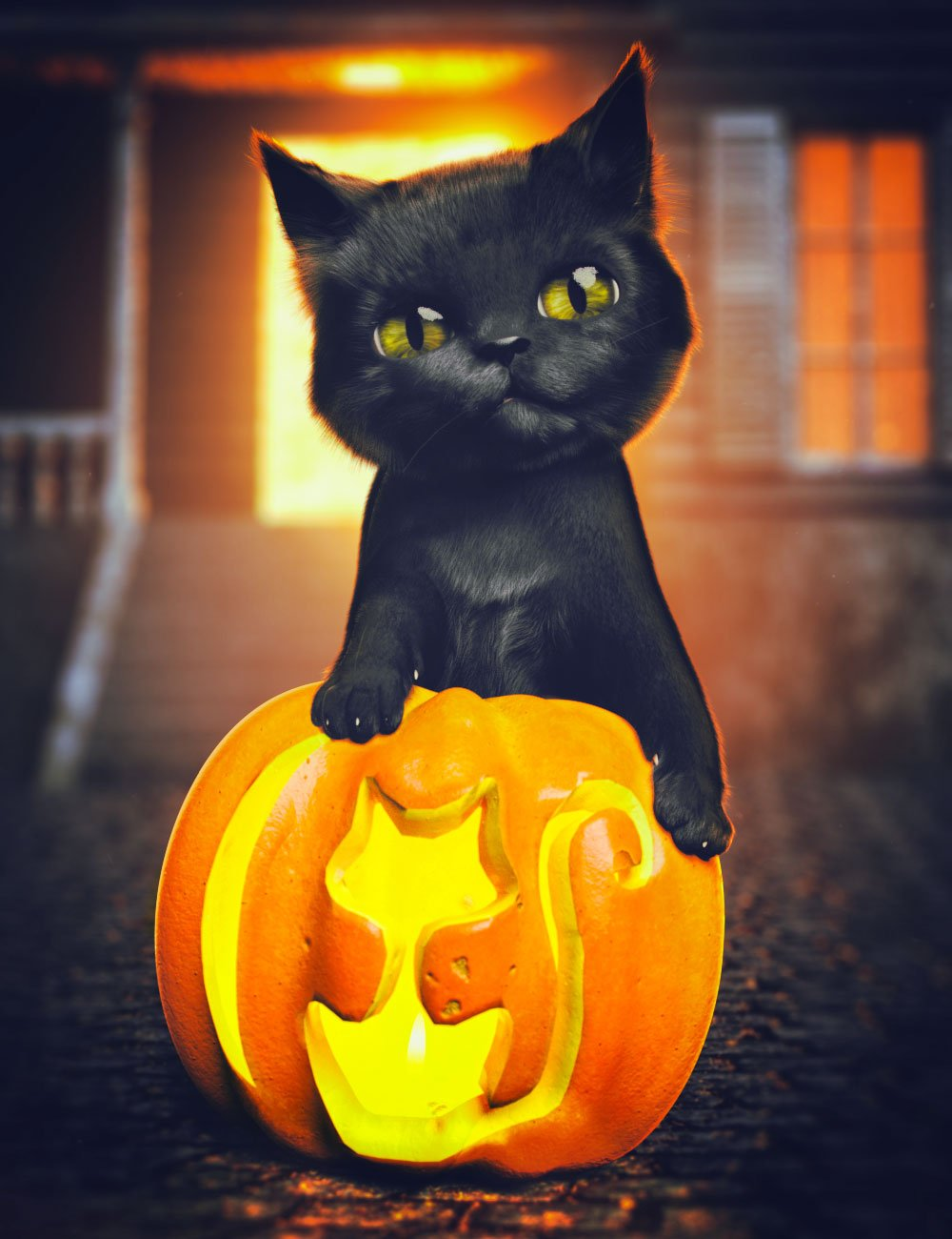 Moshi The Kitten by: Hypertaf, 3D Models by Daz 3D