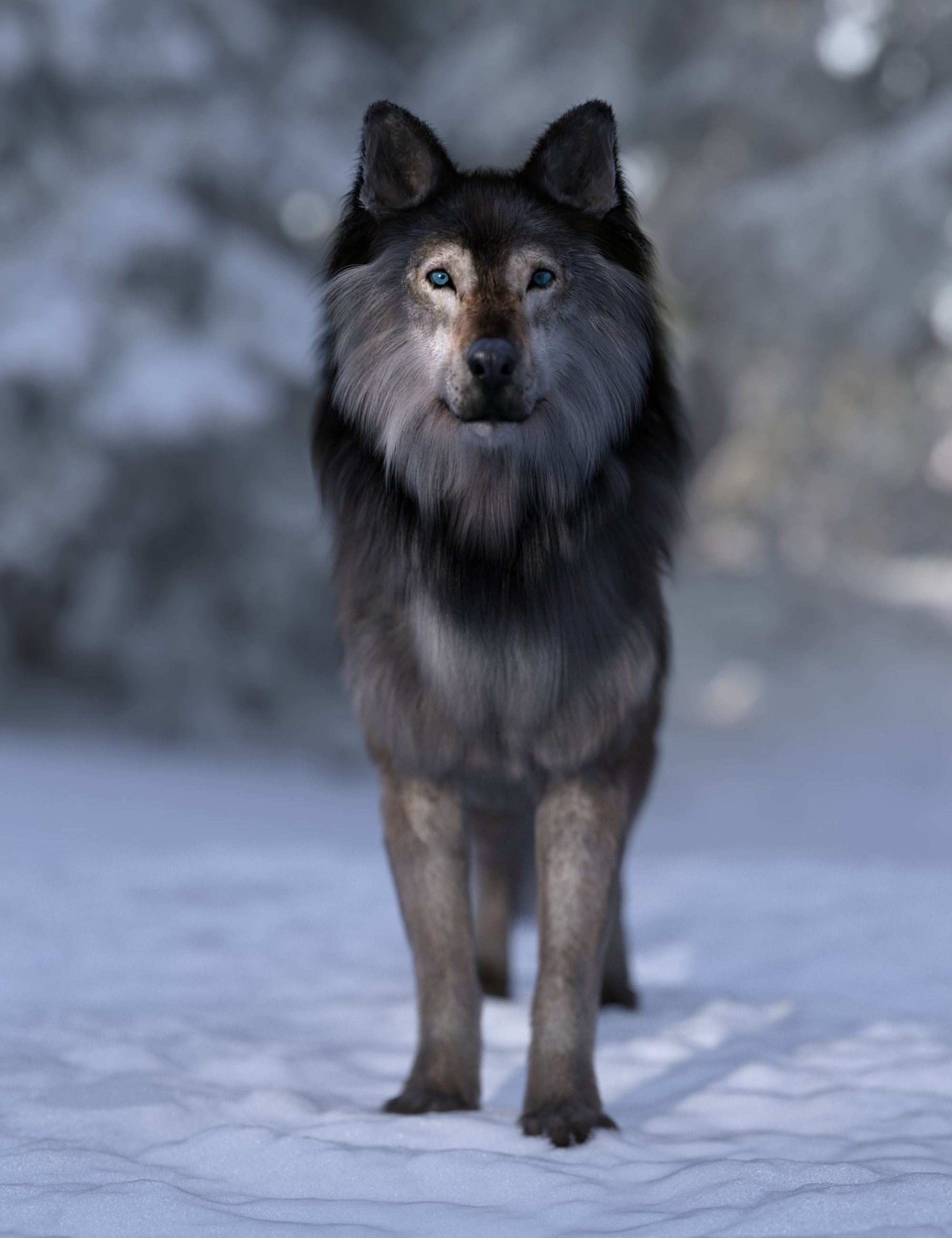 Dire Wolf for Daz Dog 8 by: Alessandro_AM, 3D Models by Daz 3D