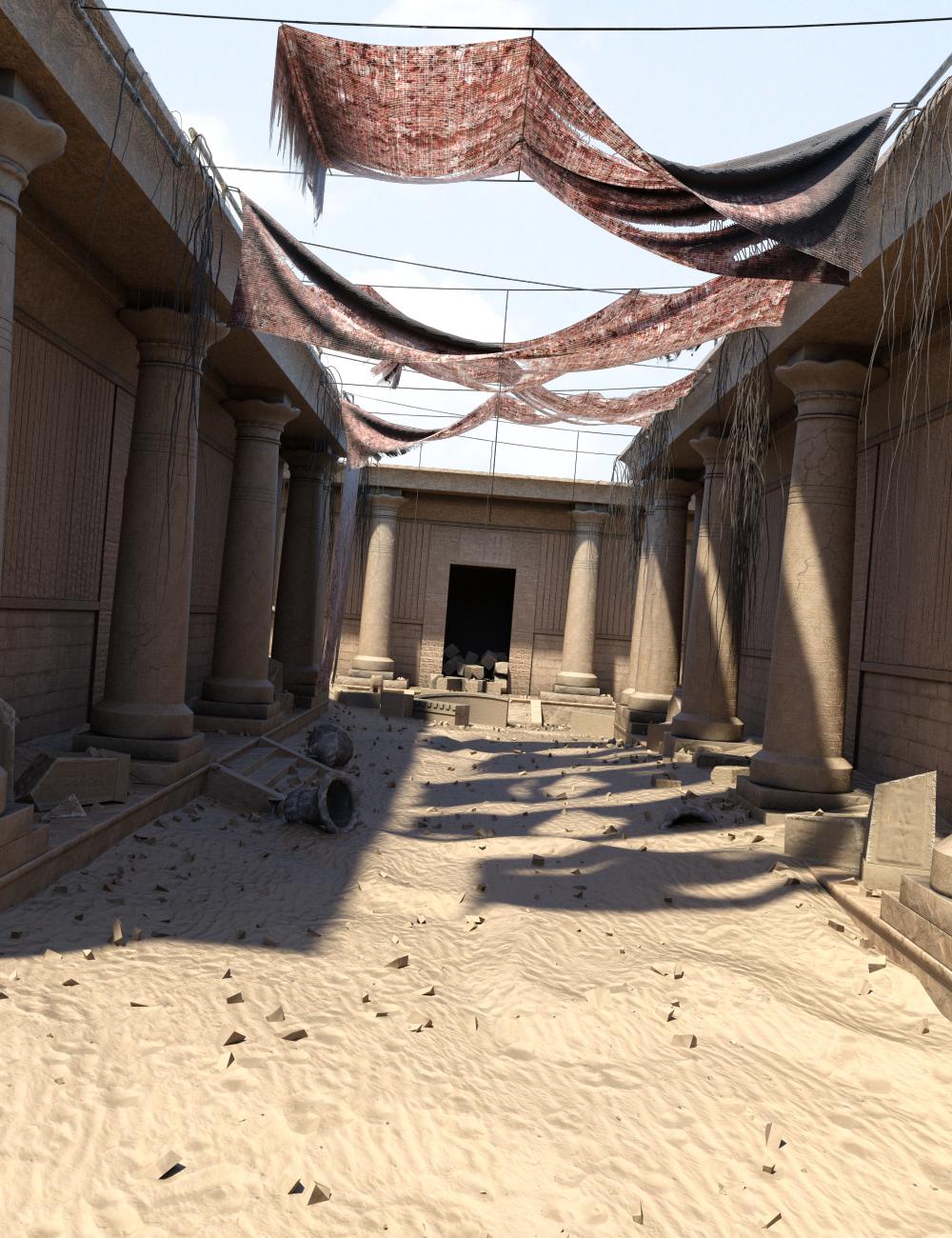 Pharaoh's Ruin by: Merlin Studios, 3D Models by Daz 3D