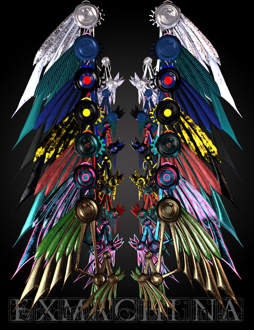 ExMachina Wings for Genesis 8 by: Skyewolf, 3D Models by Daz 3D