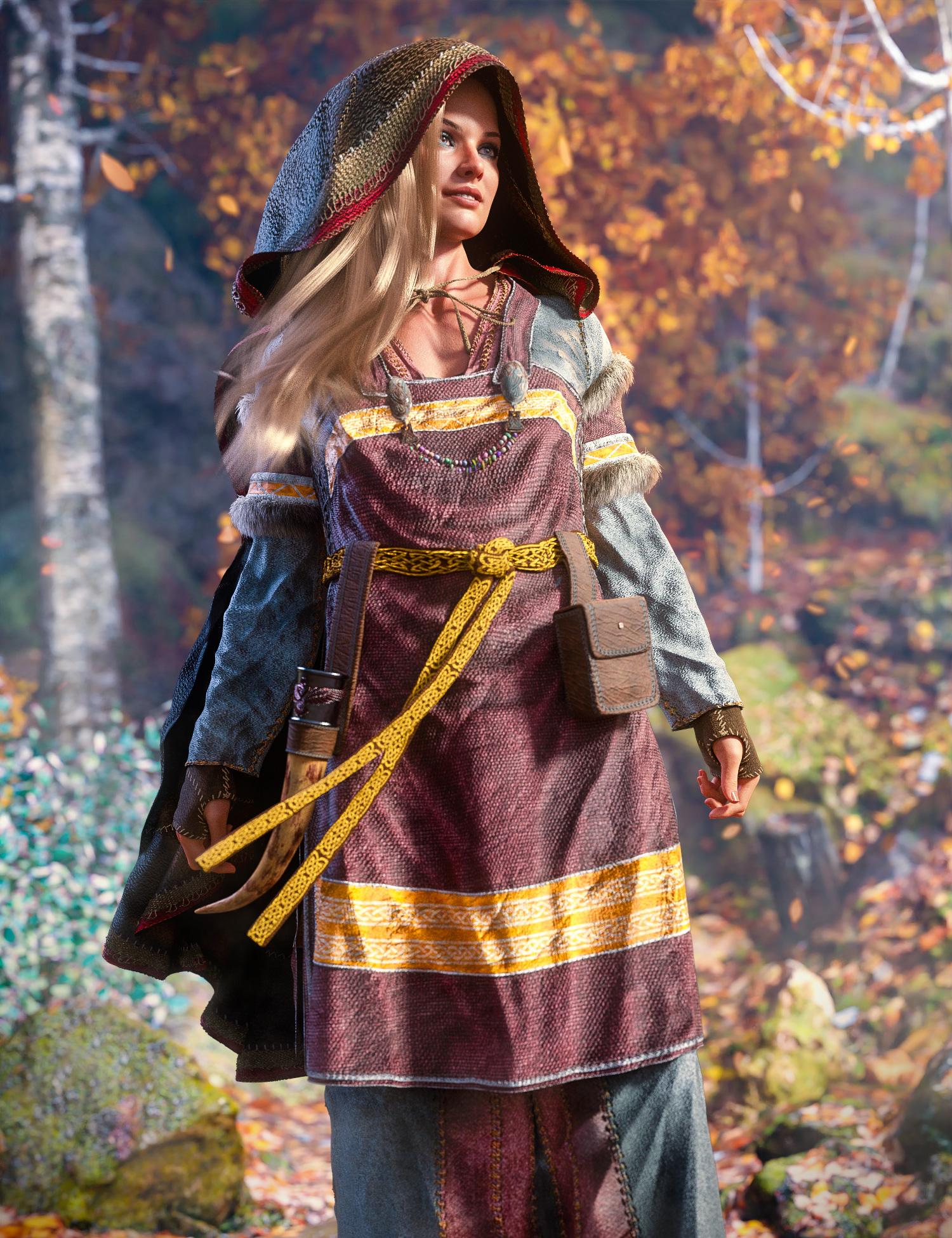Freja 8 Viking Maiden Bundle by: , 3D Models by Daz 3D