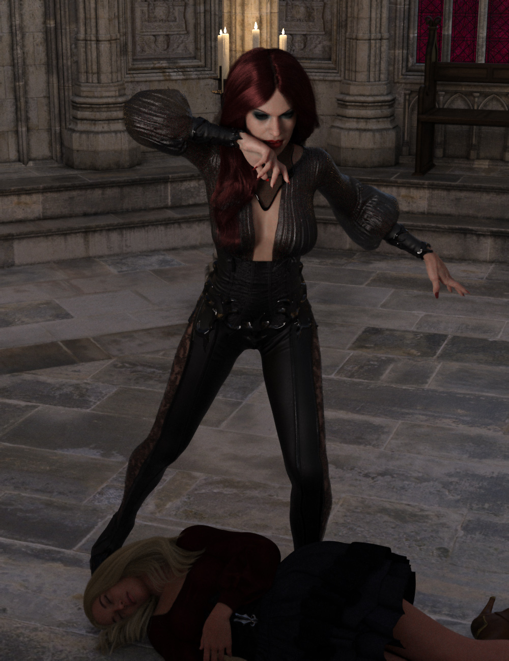 Vampiresque Poses for Genesis 8 Female by: Ensary, 3D Models by Daz 3D