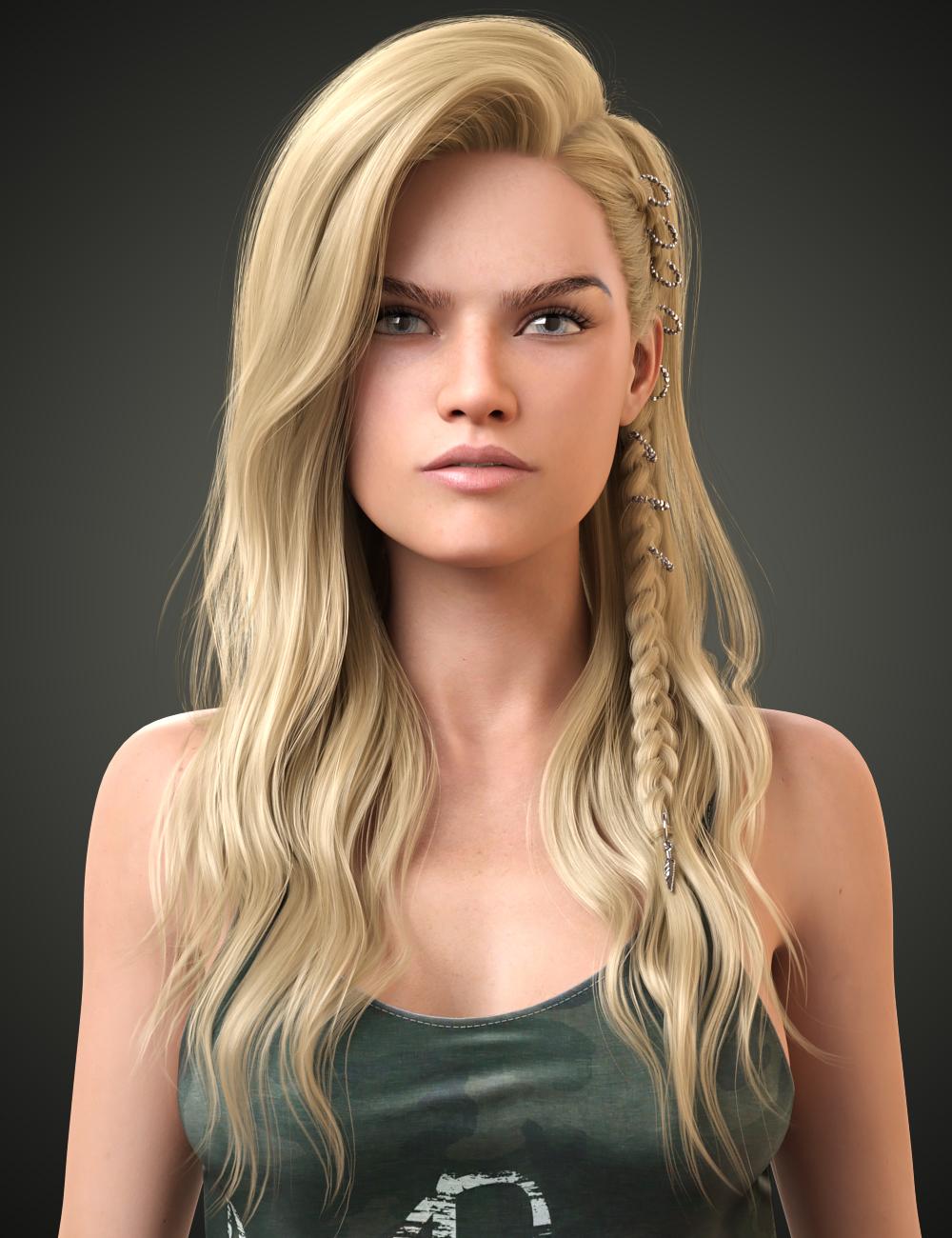 Ellie Hair for Genesis 8 Females by: WindField, 3D Models by Daz 3D