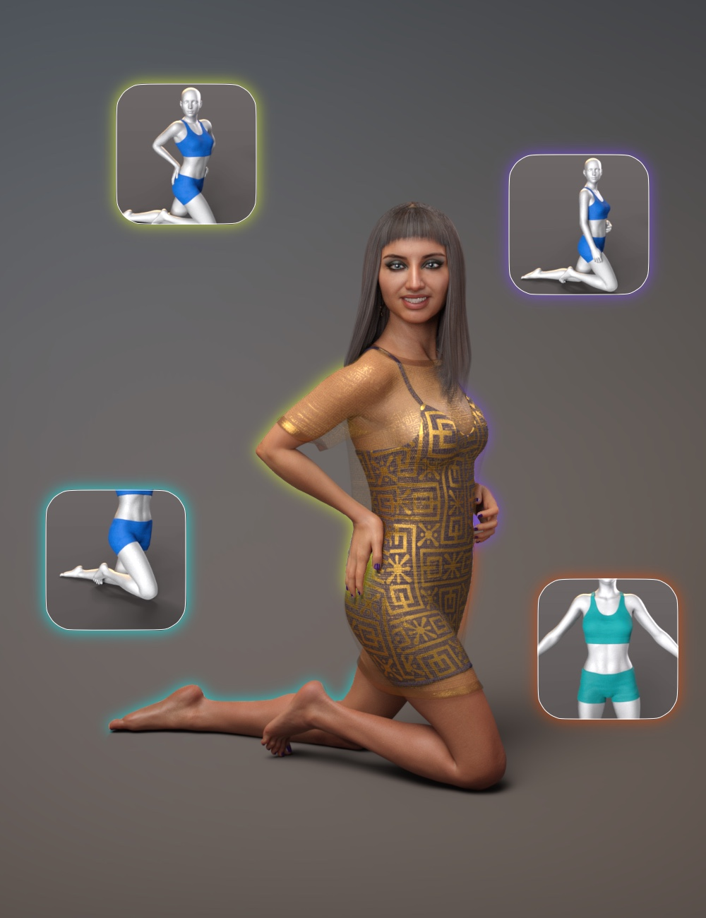 NG Build Your Own Kneeling Poses for Genesis 8 Female by: NewGuy, 3D Models by Daz 3D