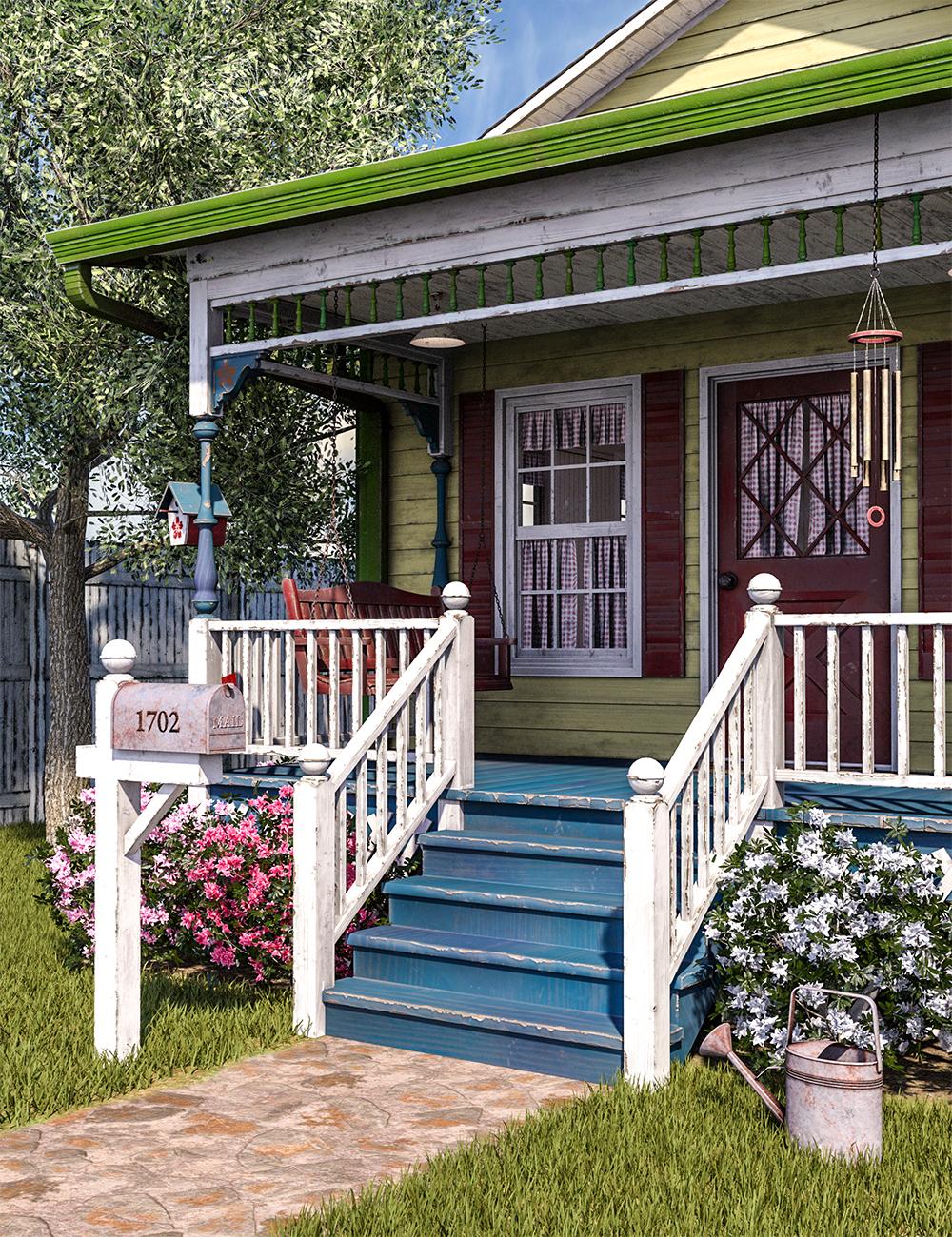 SW Cottage Porch by: SloshWerks, 3D Models by Daz 3D