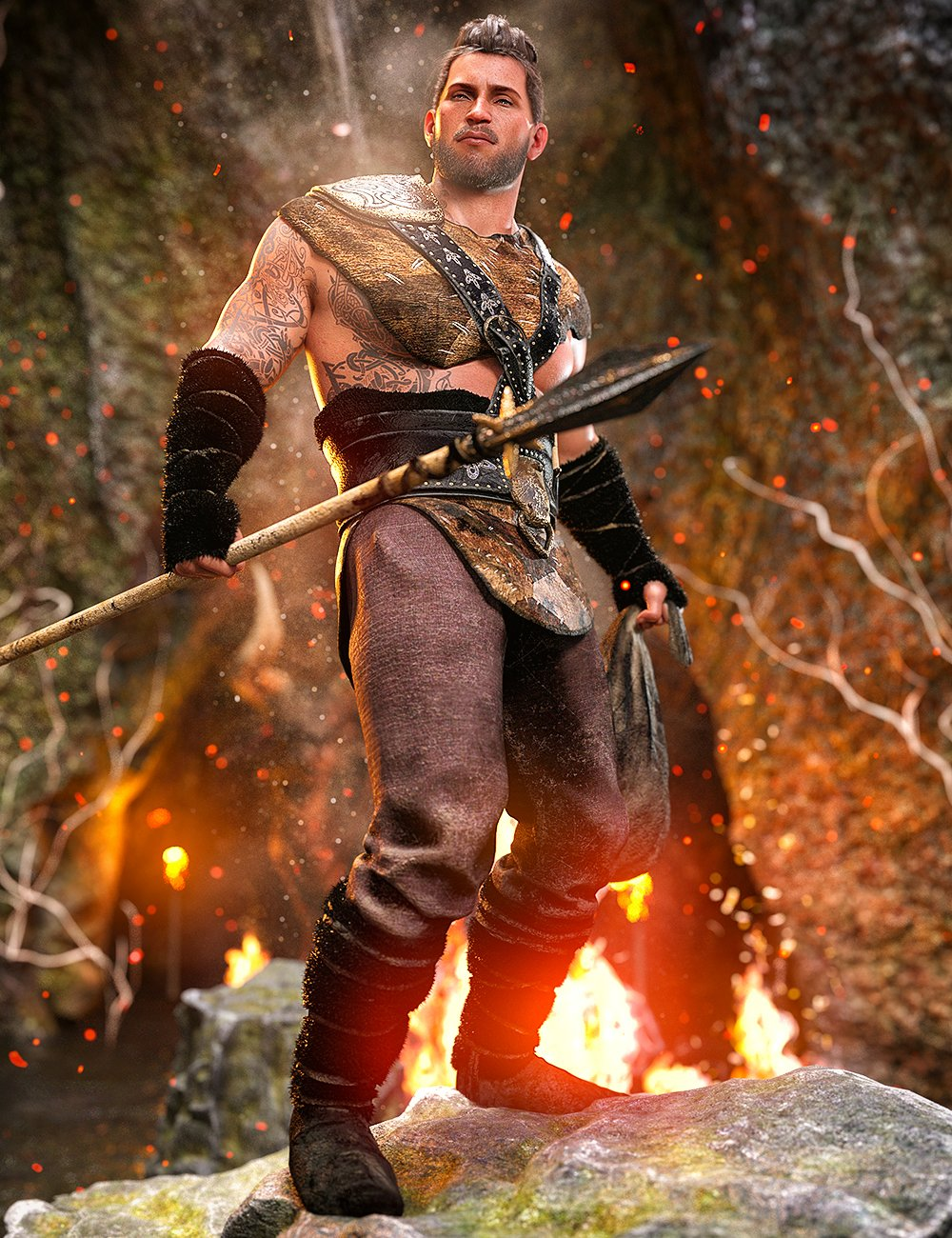 Viking Hunter Outfit for Genesis 8 Males by: Demian, 3D Models by Daz 3D