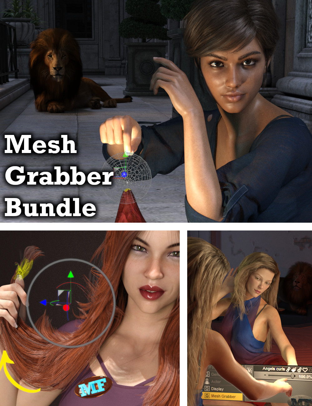 Mesh Grabber Bundle (Win) by: ManFriday, 3D Models by Daz 3D