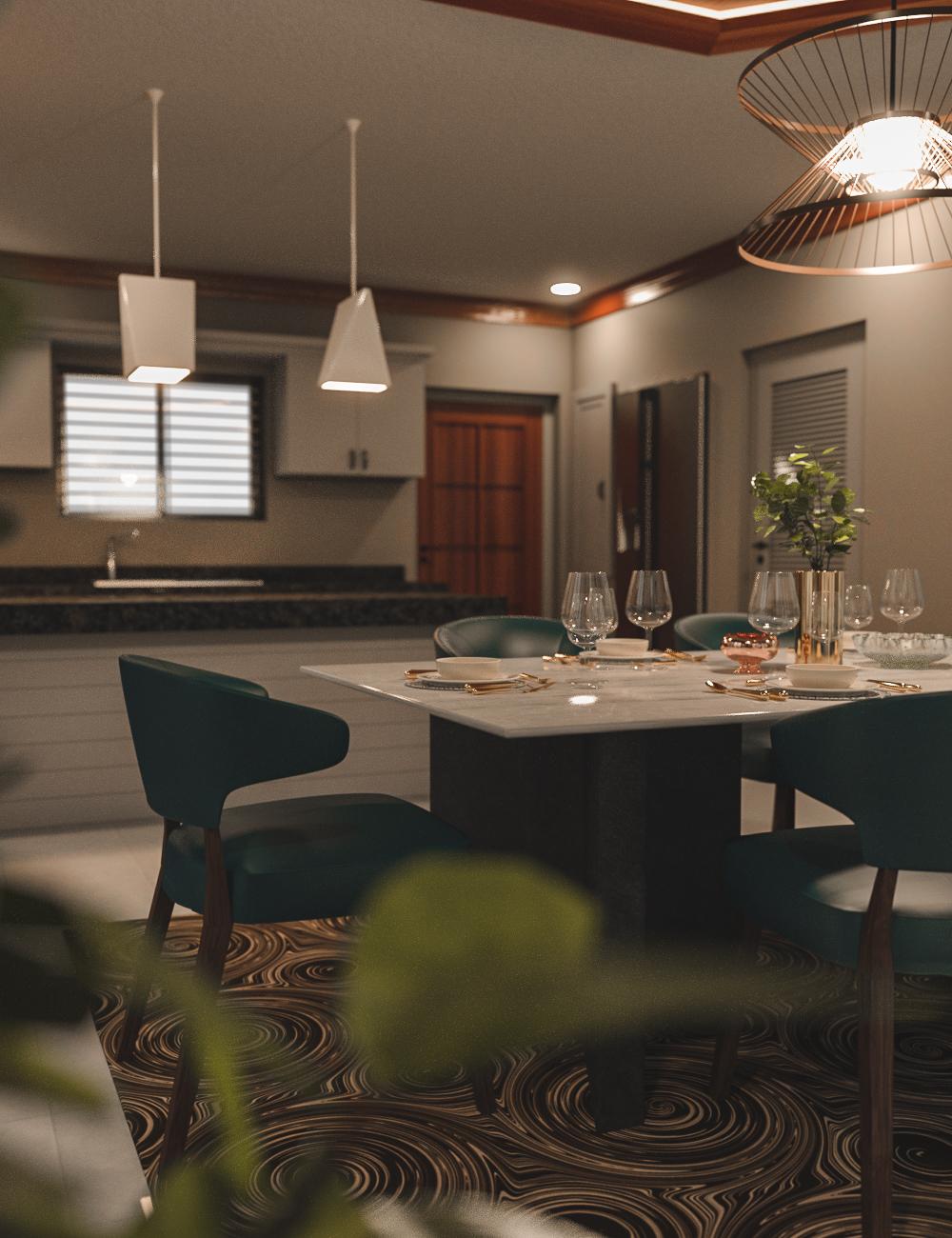 Avil Kitchen Dining Room by: Tesla3dCorp, 3D Models by Daz 3D