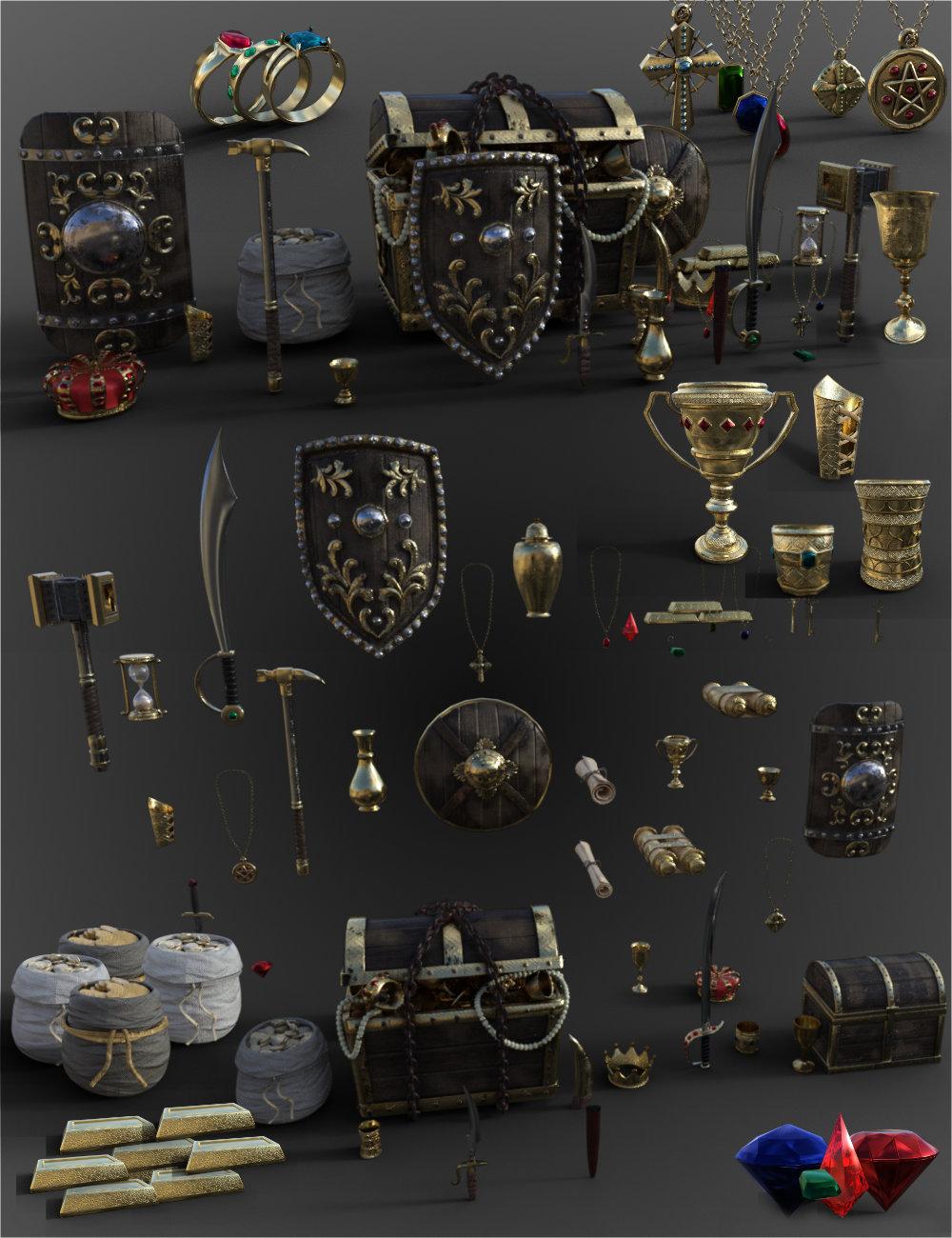 FG Treasure by: Fugazi1968Ironman, 3D Models by Daz 3D