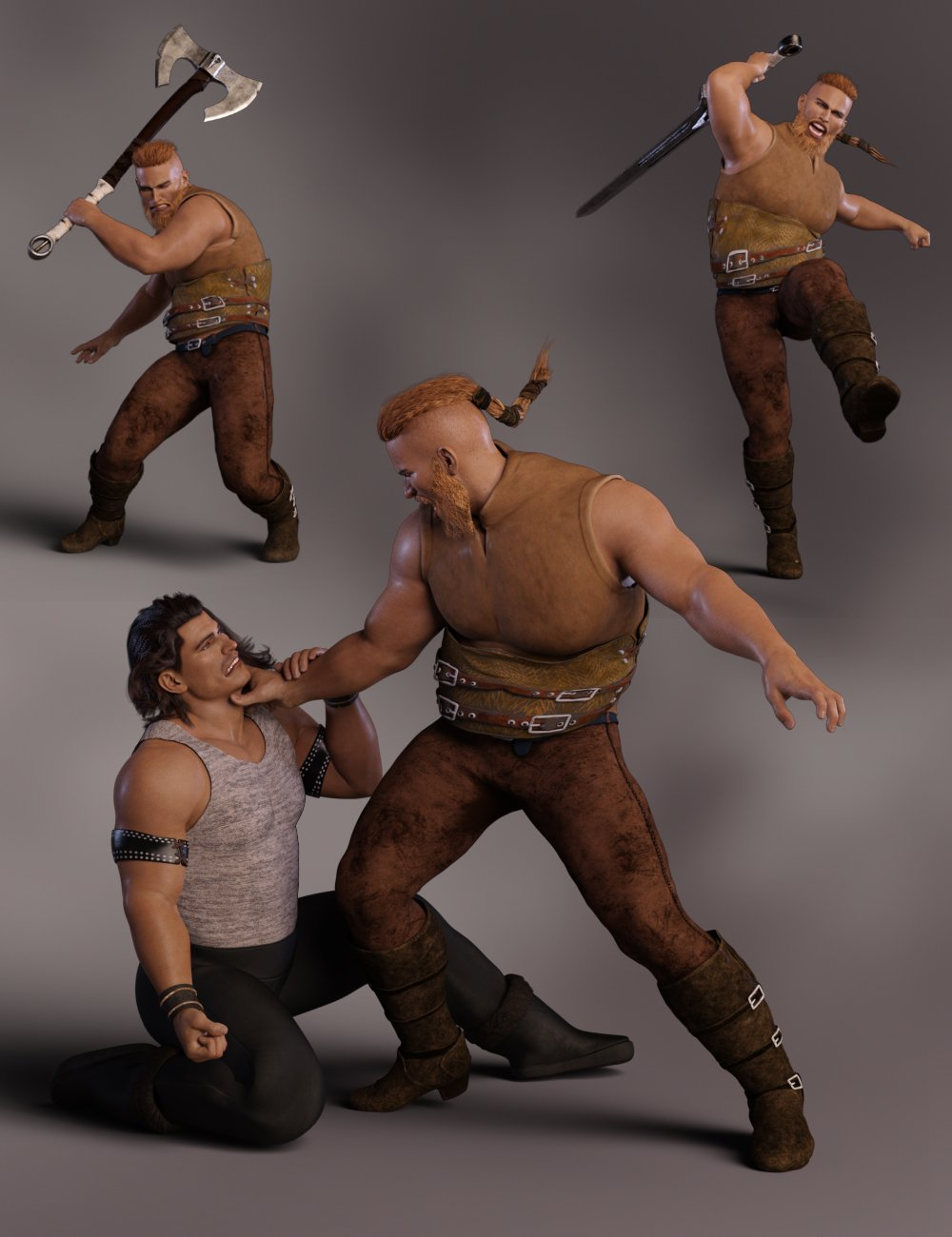 Pillage for Kjaer 8 and Genesis 8 Male by: lunchlady, 3D Models by Daz 3D