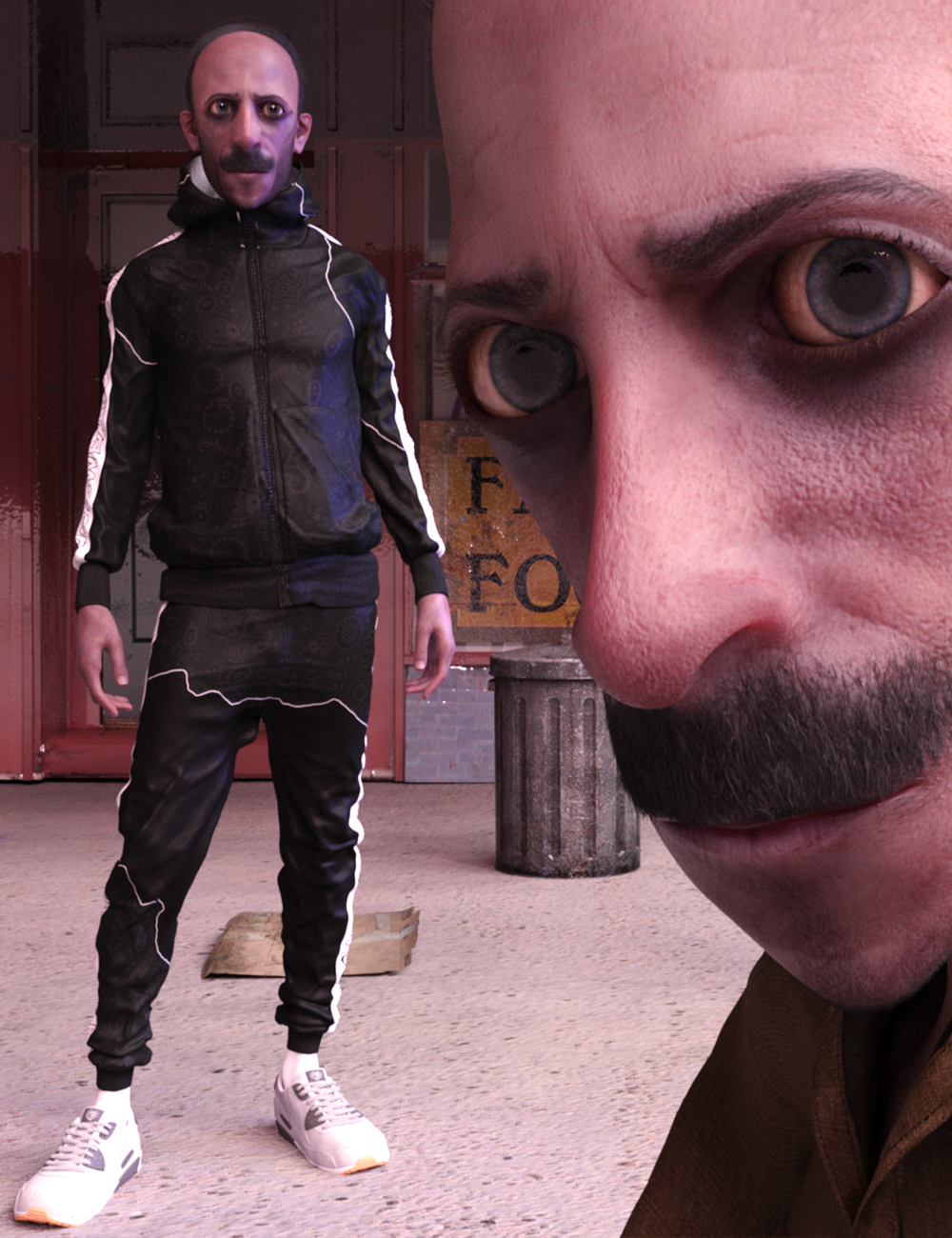 Strange Man Morton for Genesis 8 Male by: Matari3D, 3D Models by Daz 3D