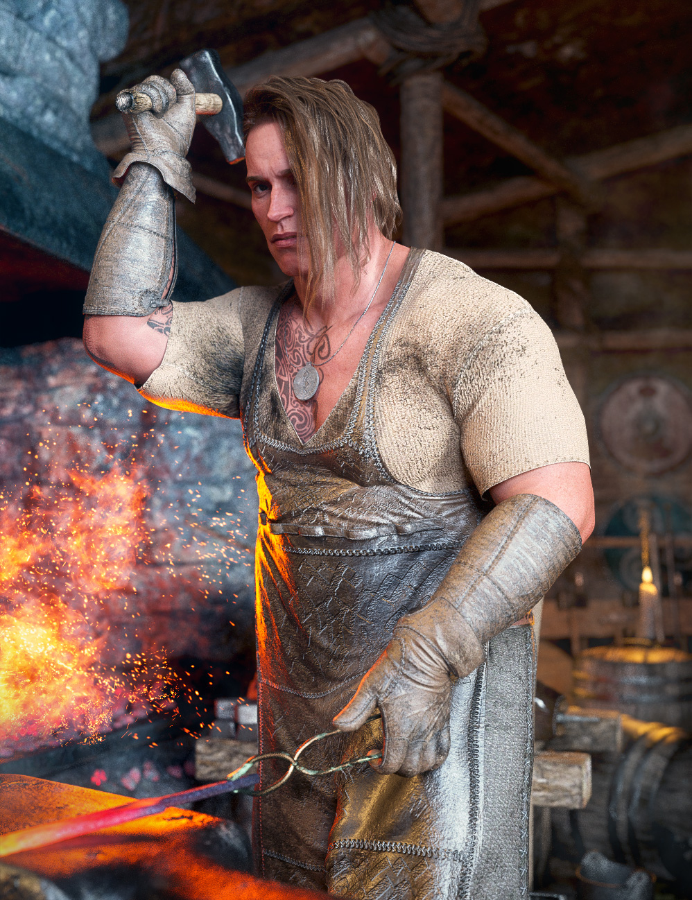 Kjaer 8 Blacksmith Bundle by: , 3D Models by Daz 3D