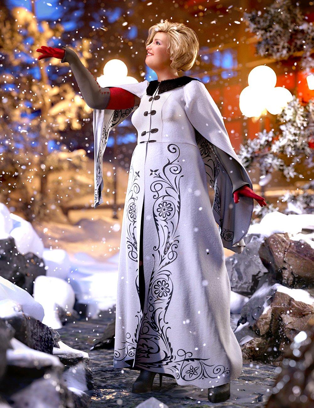 dForce Winter Splendor Outfit for Genesis 8 Females by: Barbara BrundonUmblefuglySadeMoonscape Graphics, 3D Models by Daz 3D
