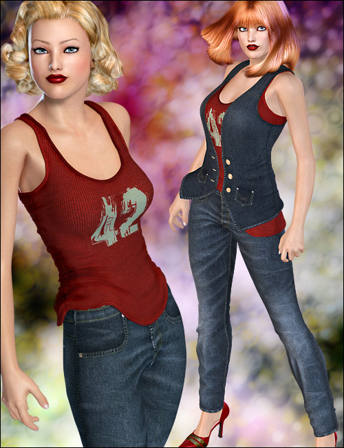 Tres Chic for Victoria 4 Elite and Aiko 4 by: 4blueyes, 3D Models by Daz 3D
