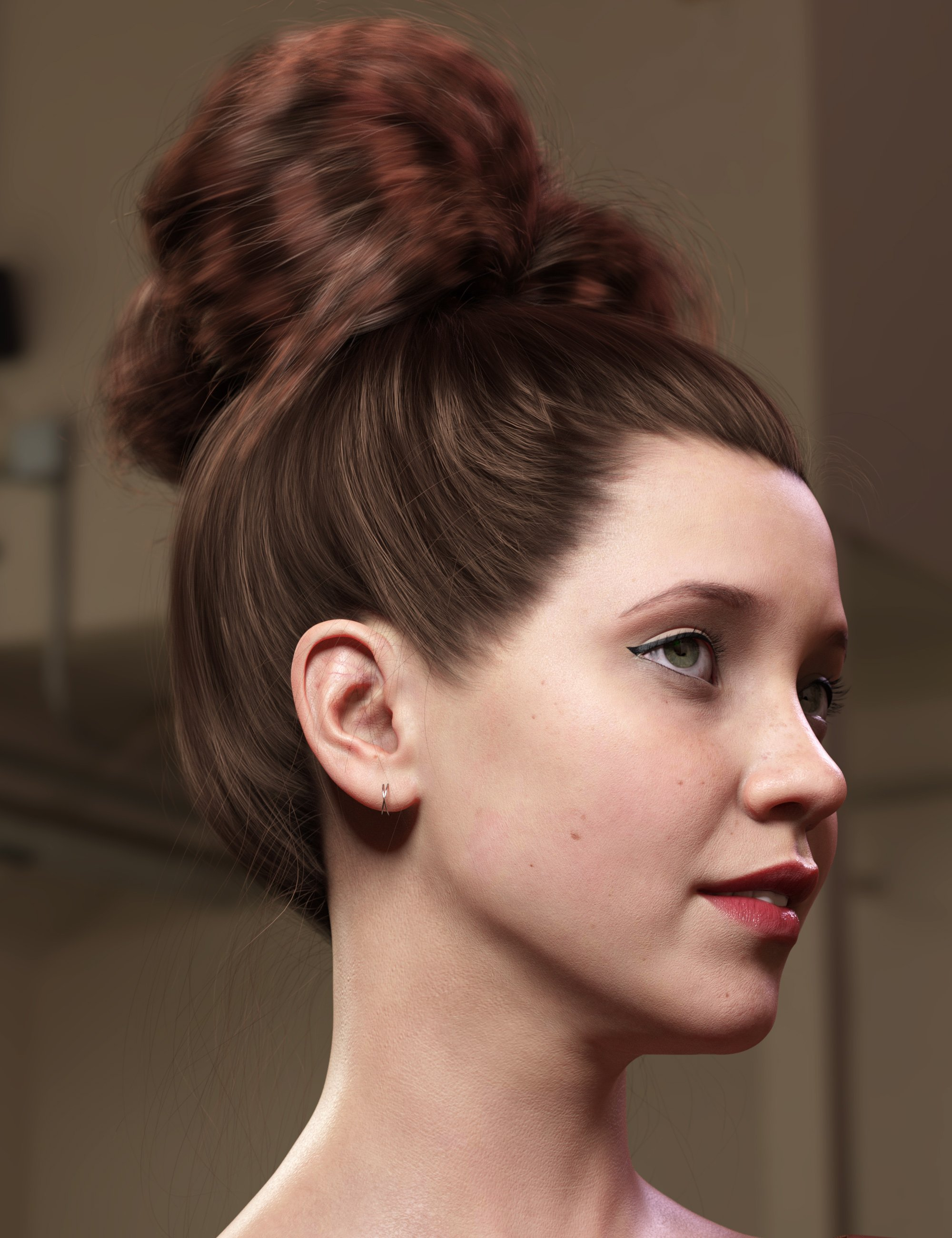 Texture Expansion for Top Updo Hair by: outoftouch, 3D Models by Daz 3D