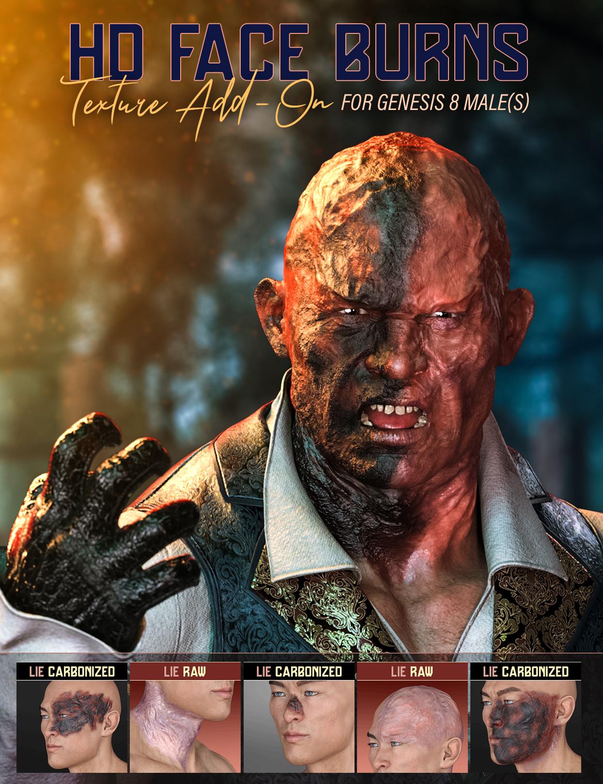 HD Face Burns Texture Add-On for Genesis 8 Males by: FenixPhoenixEsid, 3D Models by Daz 3D