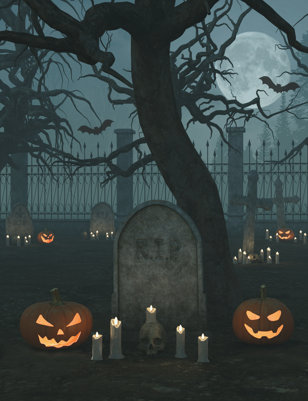 Land of Halloween by: 3dLab, 3D Models by Daz 3D