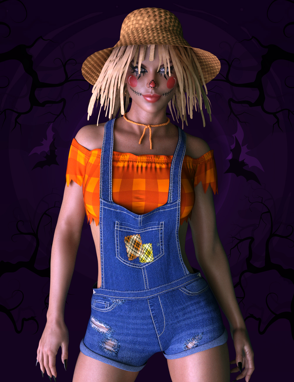 X-Fashion Scarecrow Costume for Genesis 8 Females by: xtrart-3d, 3D Models by Daz 3D