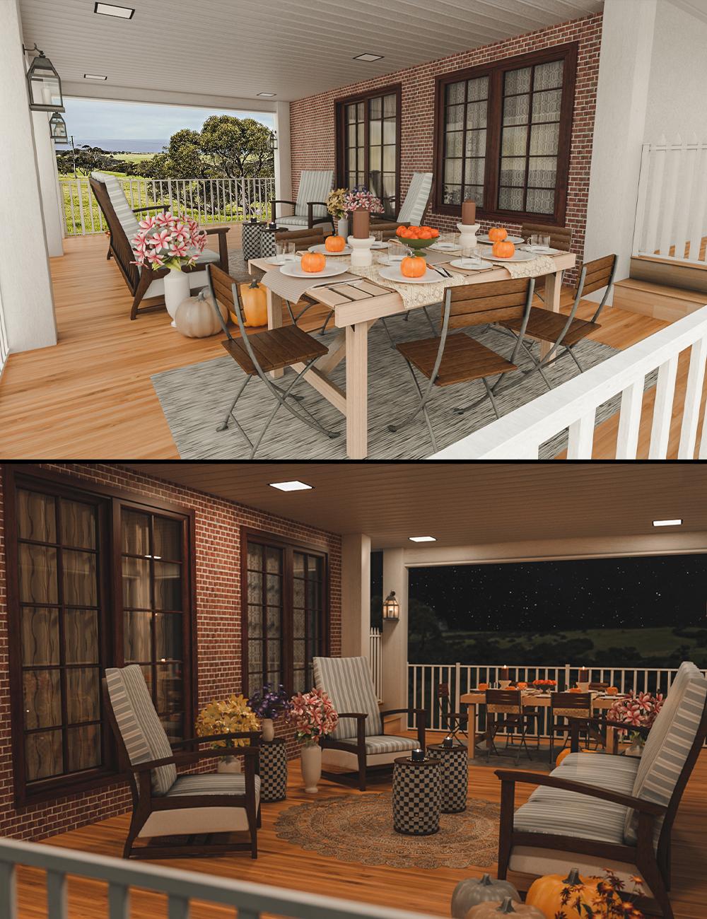 Cozy Porch by: clacydarch3d, 3D Models by Daz 3D