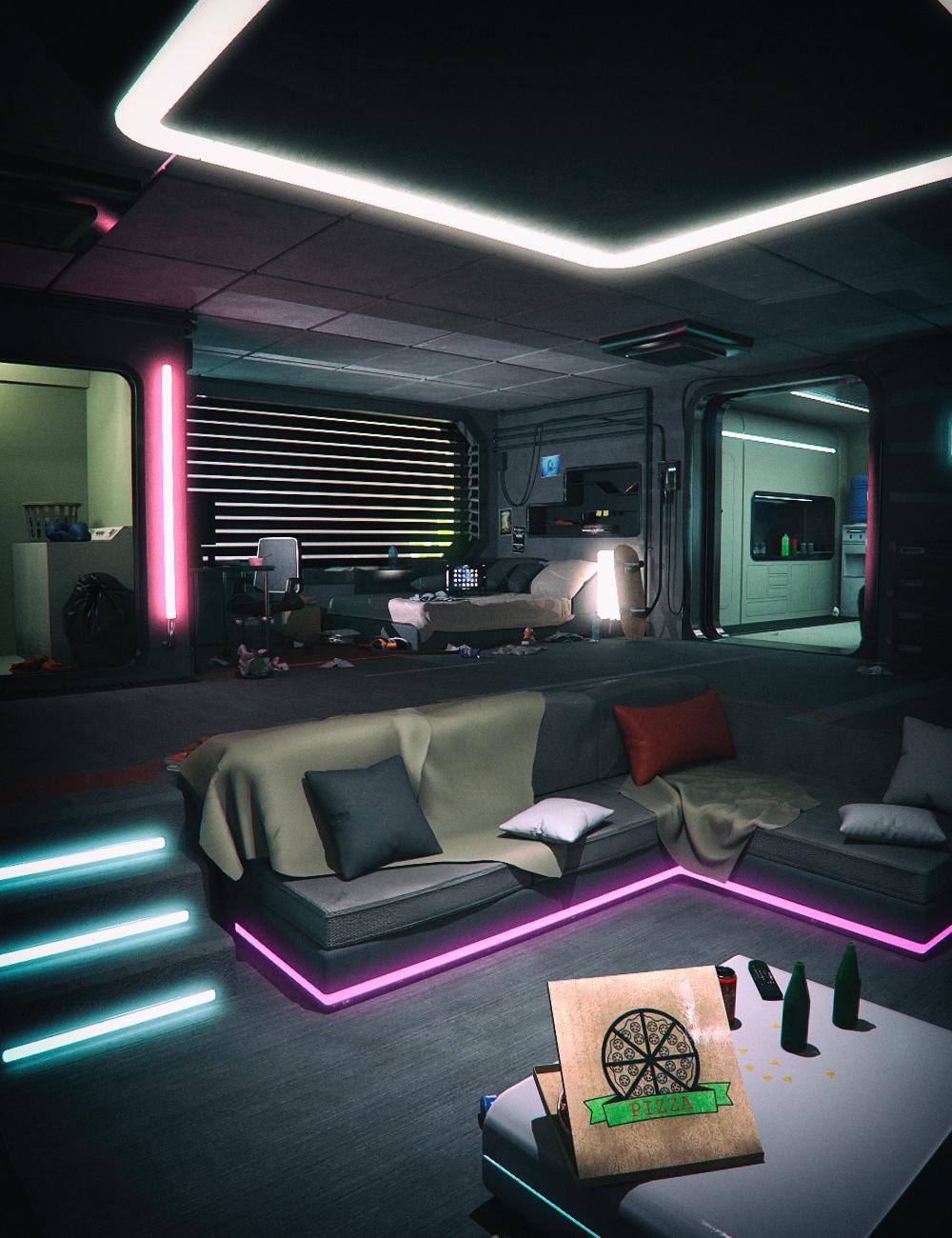 Cyberpunk Apartment by: Mely3D, 3D Models by Daz 3D
