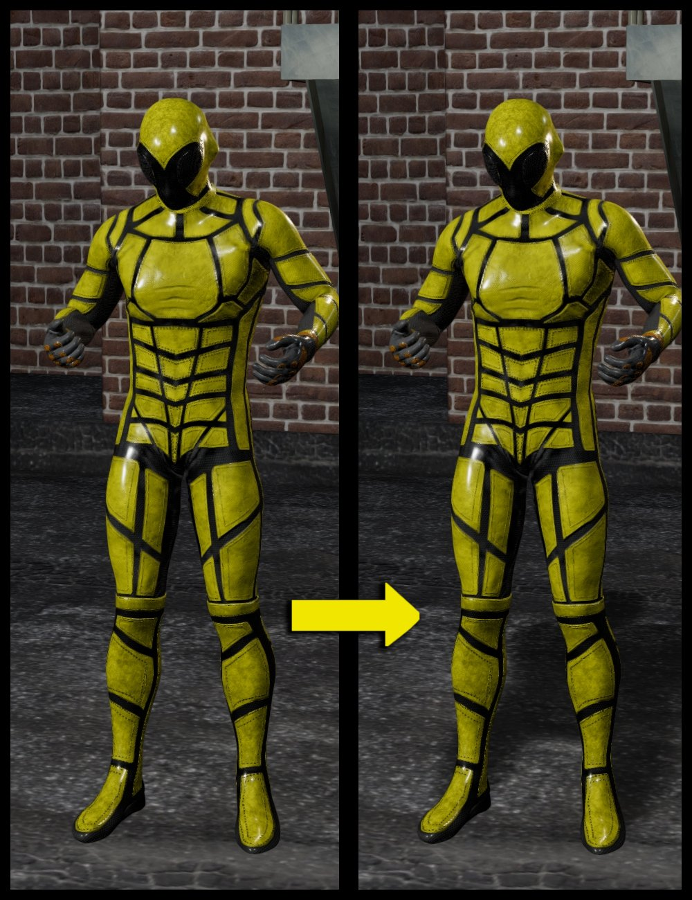 dForce SY Rigged Shadows Filament by: Sickleyield, 3D Models by Daz 3D