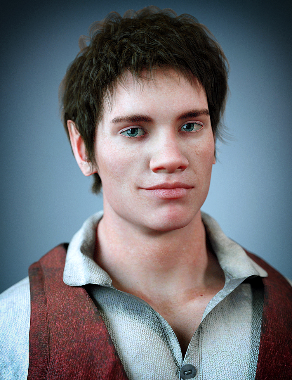 Folco The Halfling HD for Genesis 8 Male by: Kooki99, 3D Models by Daz 3D