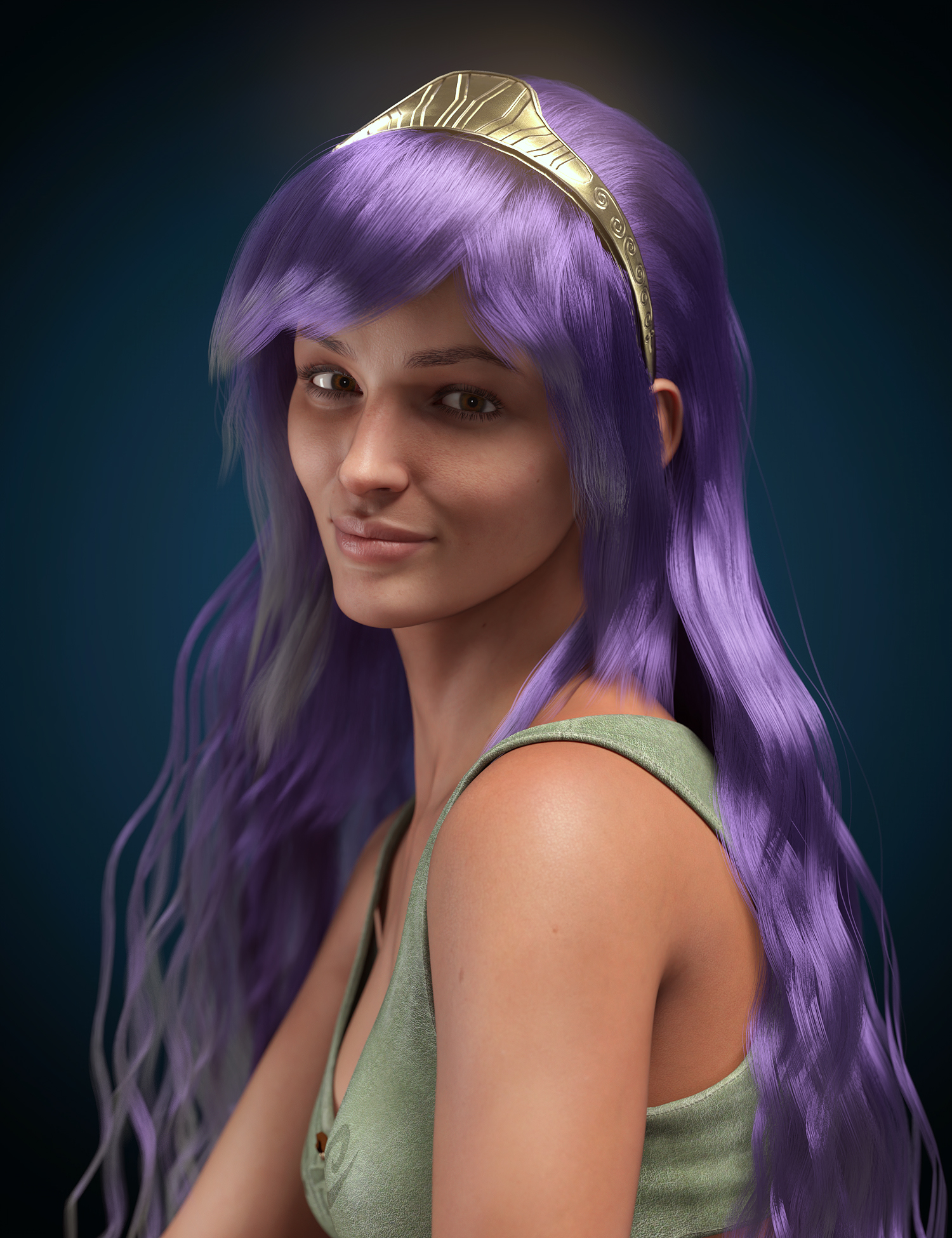 dForce Athena Hair for Genesis 8 and 8.1 Females by: HM, 3D Models by Daz 3D