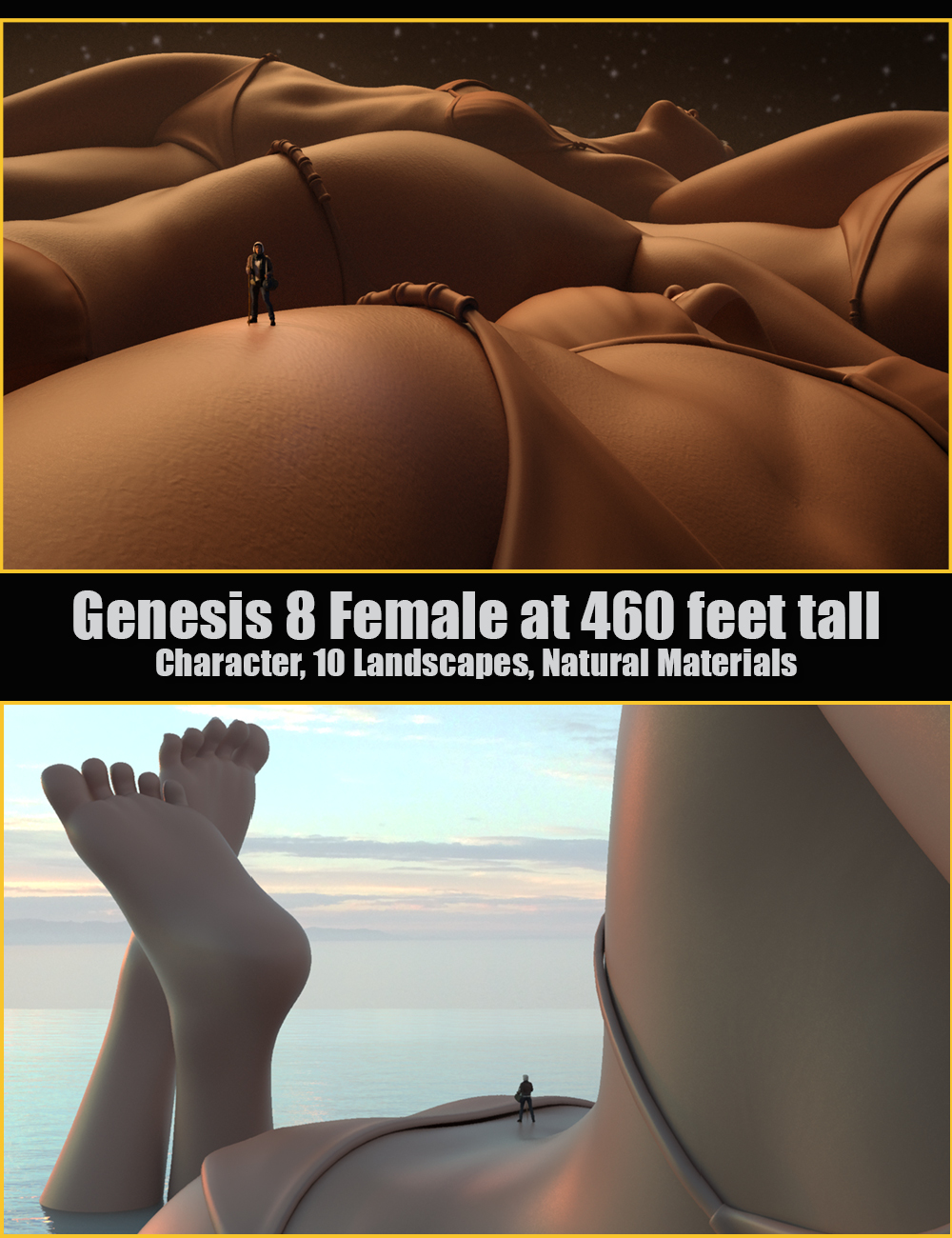 BodyScapes for Genesis 8 Female by: MarshianOso3D, 3D Models by Daz 3D
