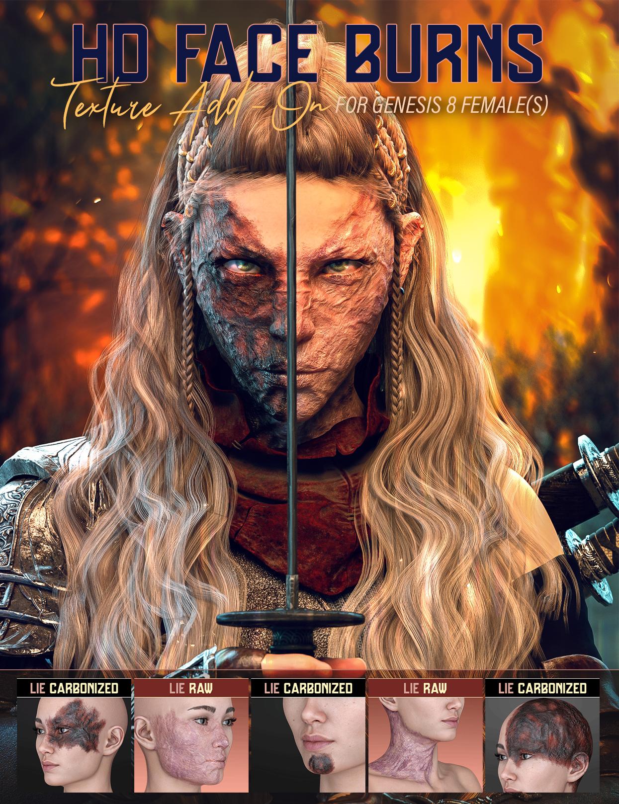 HD Face Burns AddOn for Genesis 8 Females by: FenixPhoenixEsid, 3D Models by Daz 3D