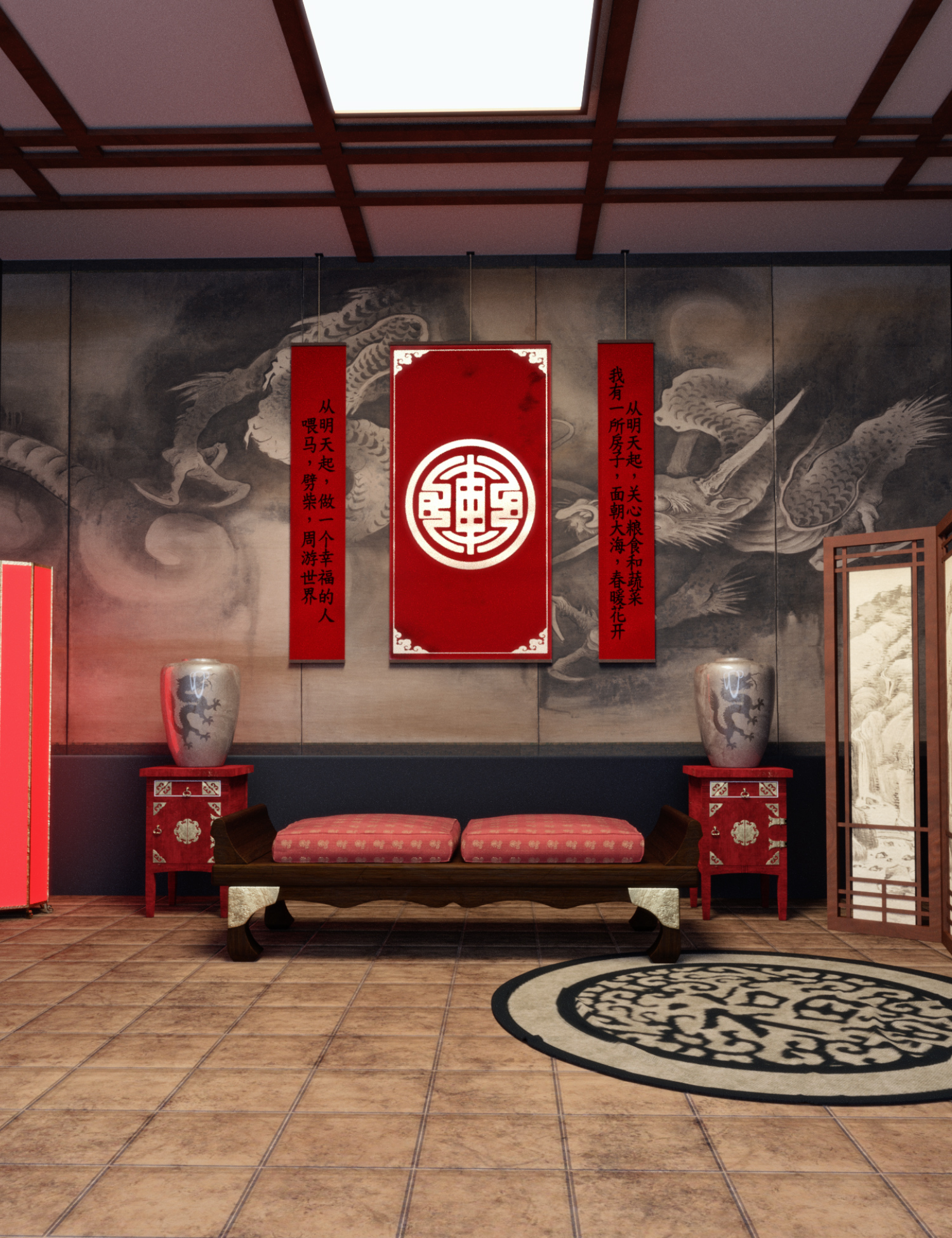 Chinese Room by: Neikdian, 3D Models by Daz 3D