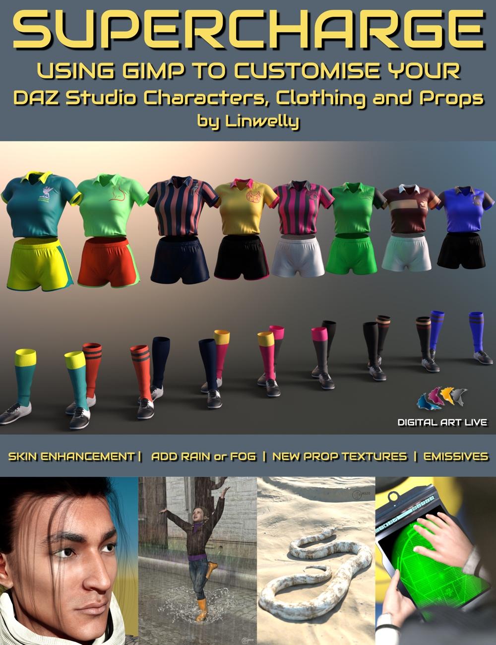 Supercharge Your Daz Studio Content with GIMP by: Digital Art Live, 3D Models by Daz 3D