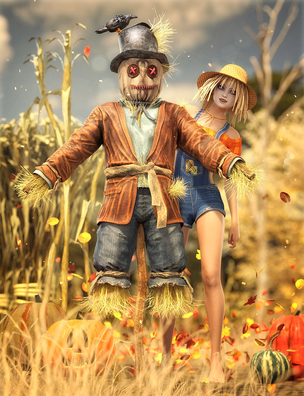 Halloween Fun Bundle by: , 3D Models by Daz 3D